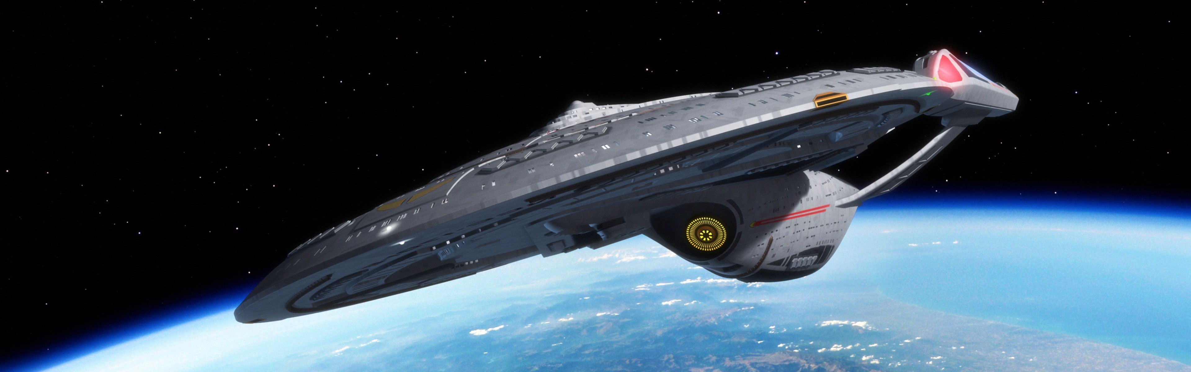 3840x1200 Star Trek, USS Enterprise (spaceship), Space, Multiple Display Wallpapers  HD / Desktop and Mobile Backgrounds