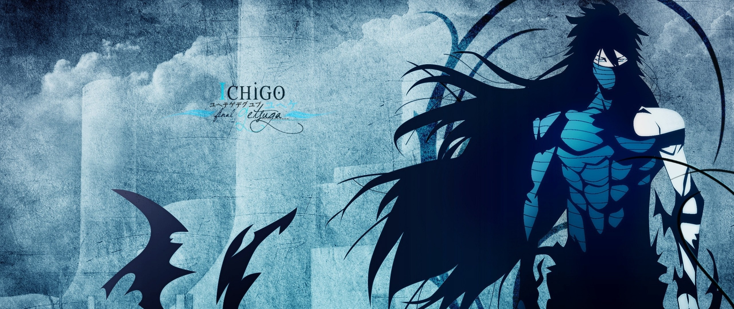 2560x1080 Preview Wallpaper Ichigo Mugetsu Bleach Final Getsuga Boy Shadow