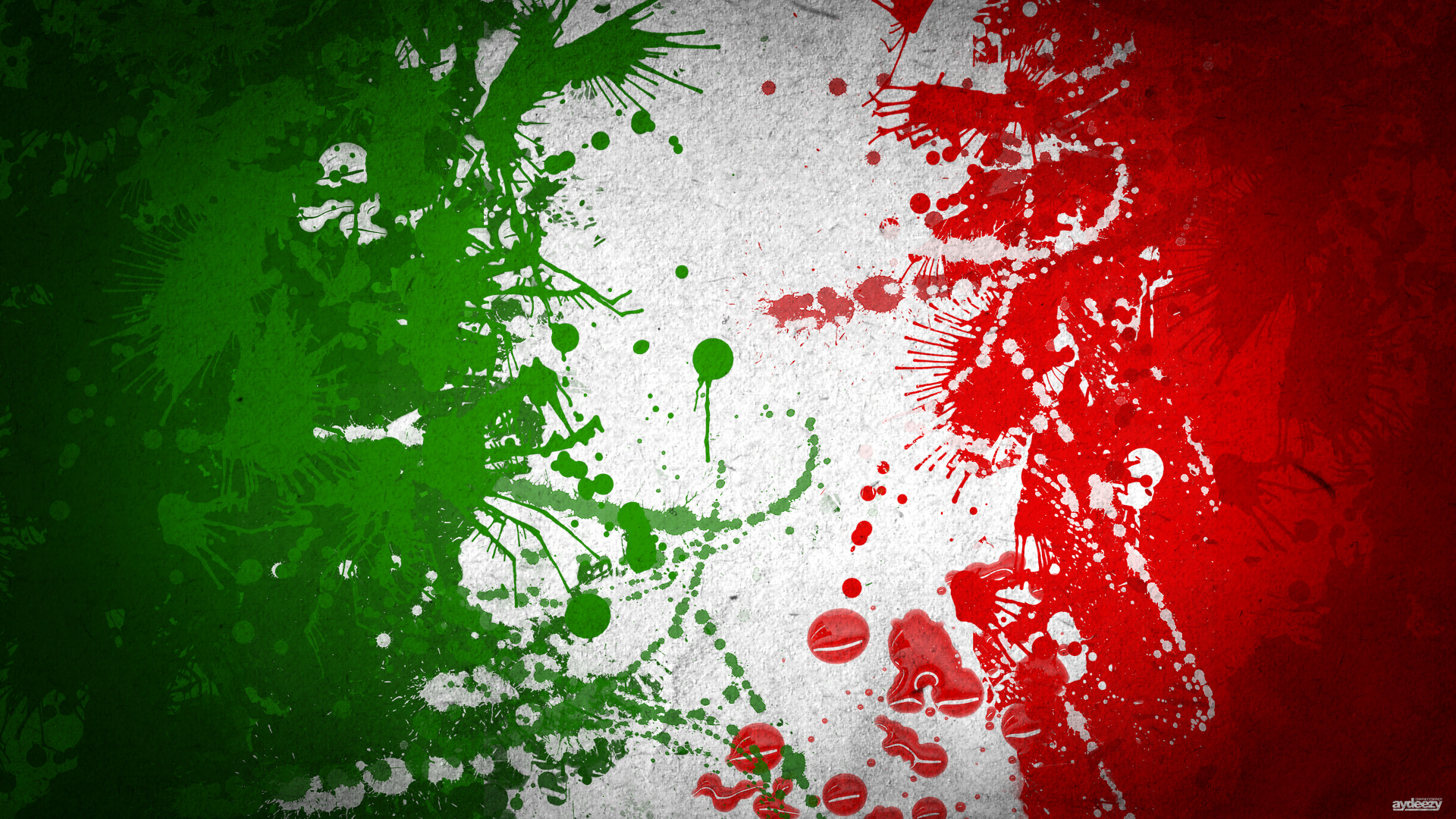 1920x1080 Italian Flag Abstract Wallpaper Wall Mural | Wallsauce Europe ...