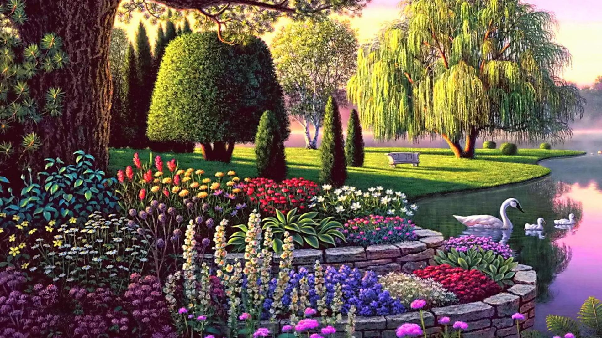 1920x1080 secret garden wallpaper #368021