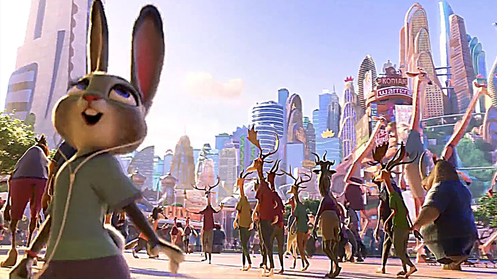 "1920x1080 Welcome to ZOOTOPIA with Shakira's ""Try Everything"" ! - Movie Clip - YouTube"