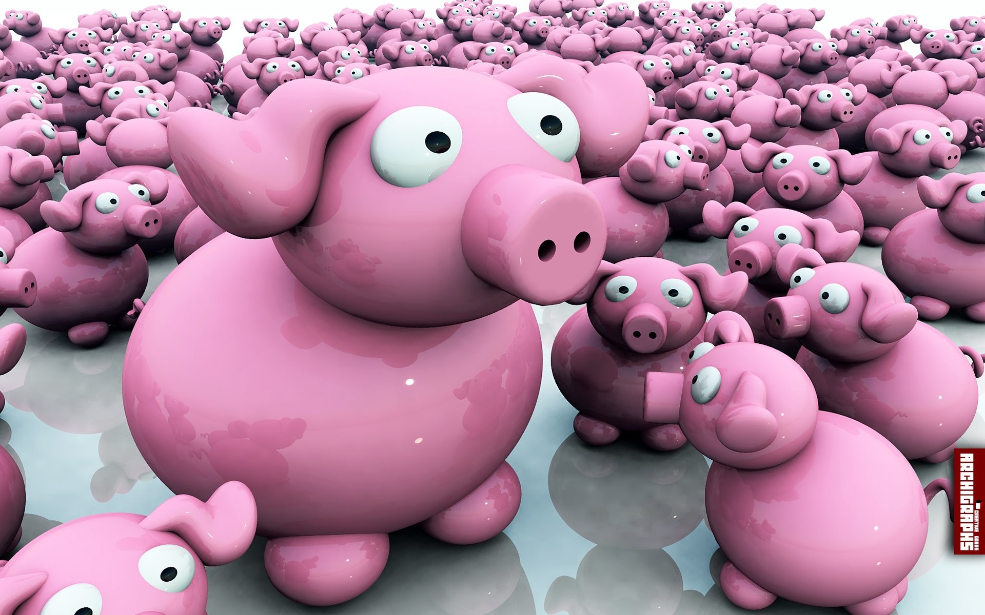 1920x1200 Animated Pigs #1748800