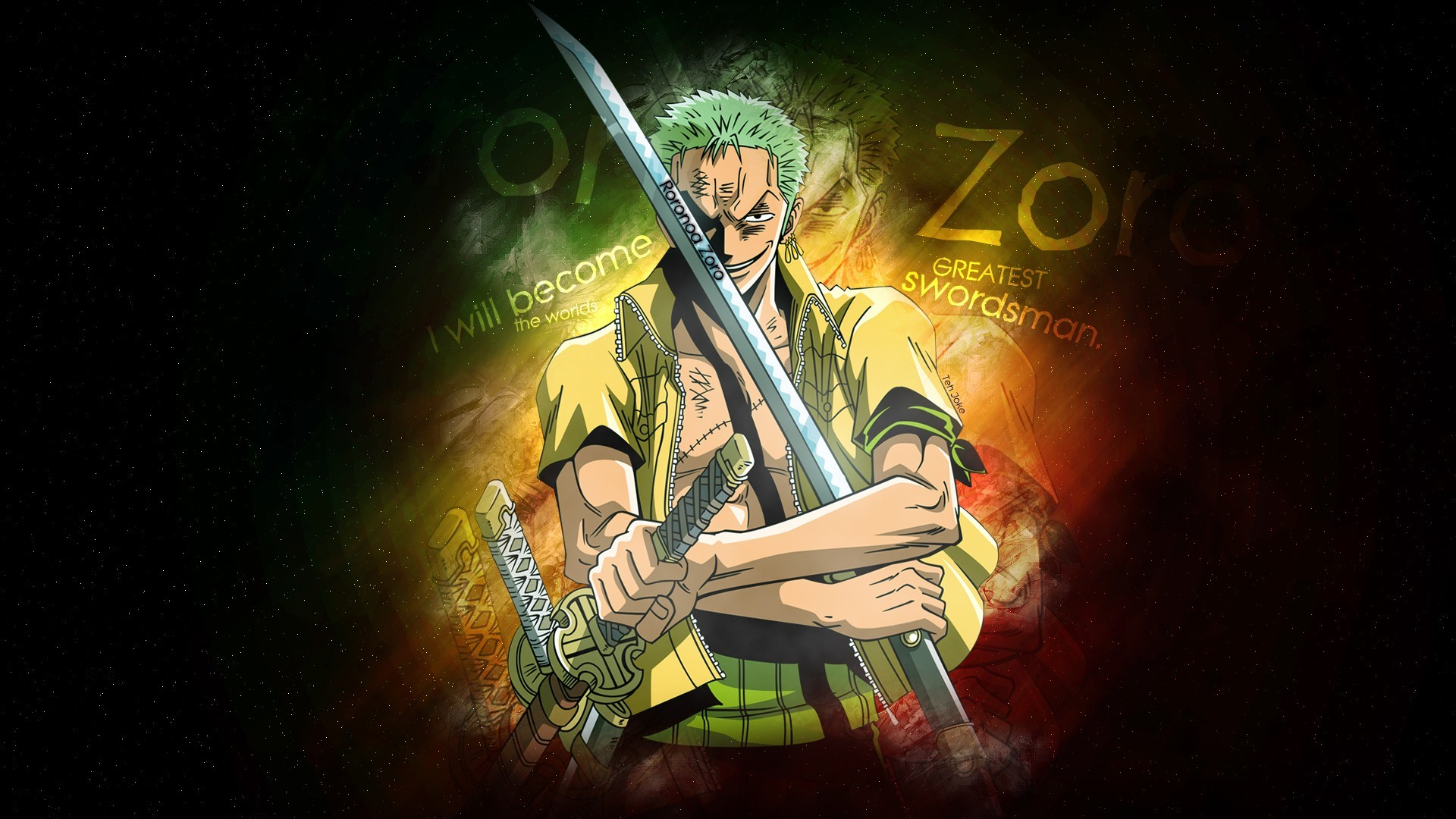 1920x1080 wallpaper Roronoa Zoro