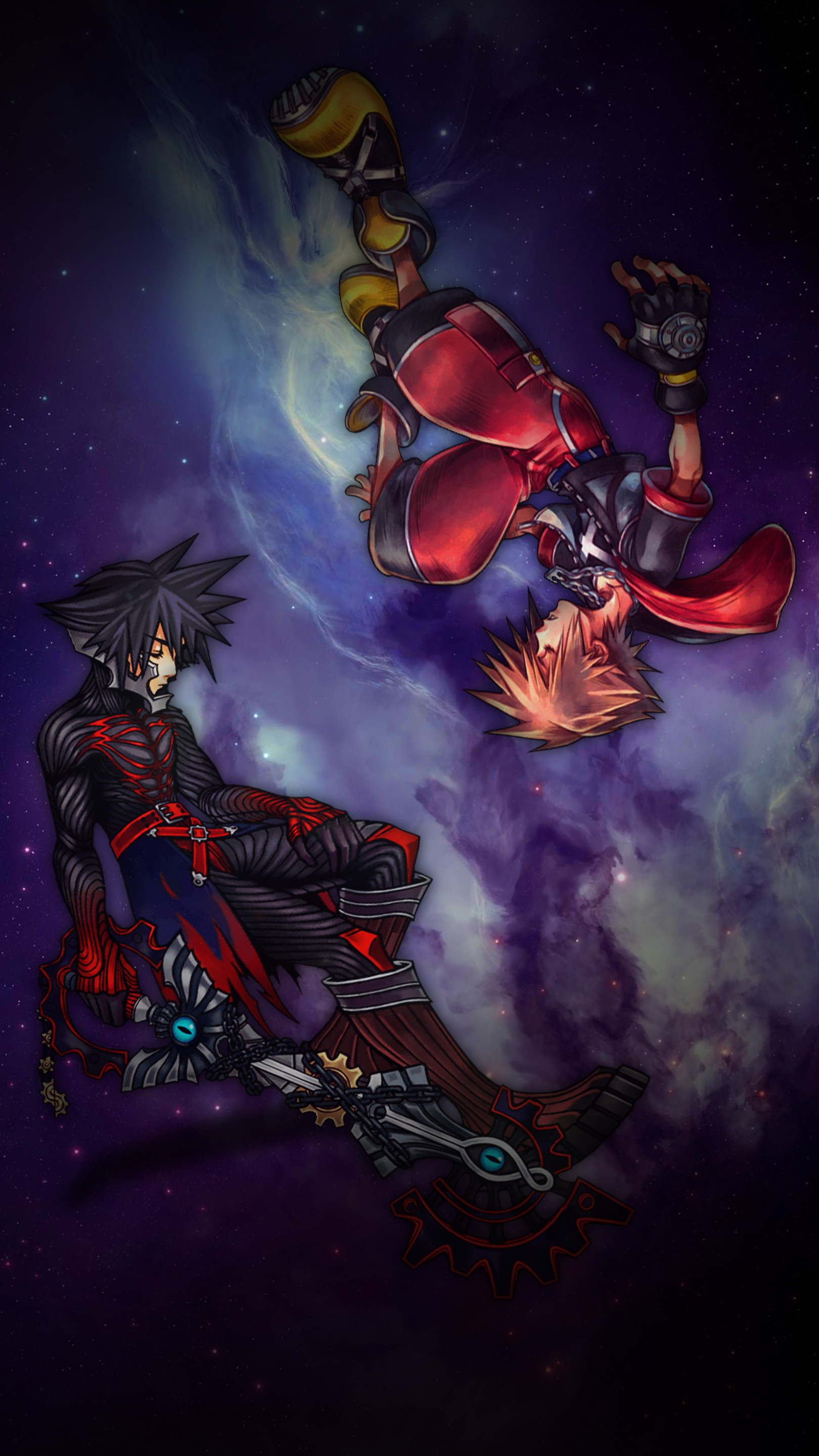 1620x2880 ... Sora and Vanitas Kingdom Hearts iPhone Wallpaper-C by judah2x0