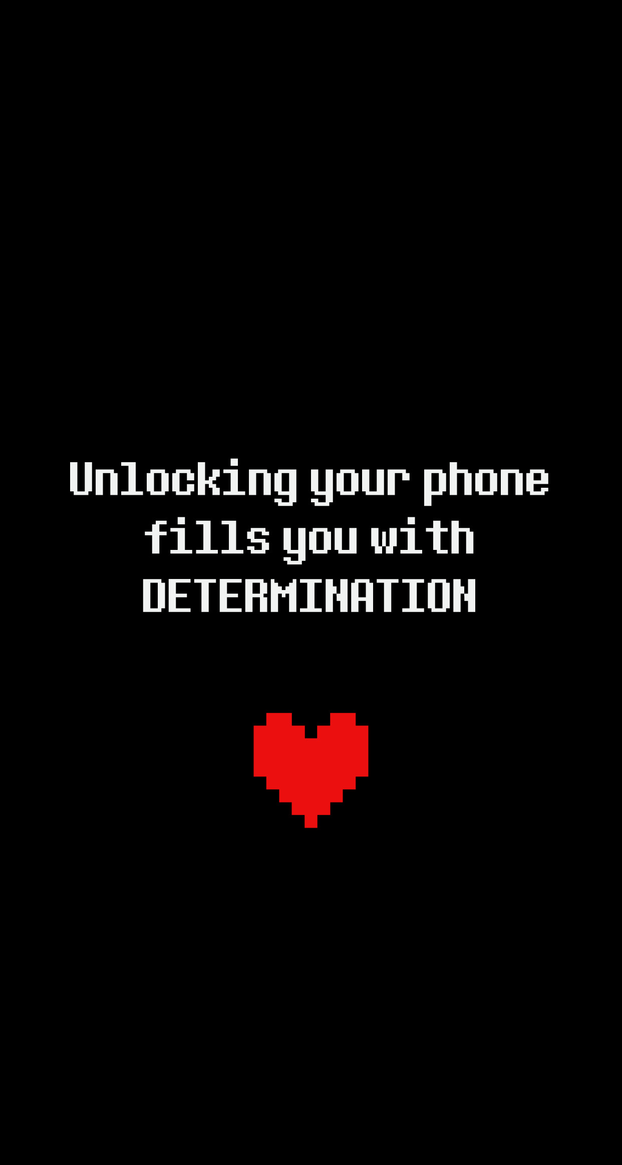 1242x2324 •determination• Undertale iphone wallpaper