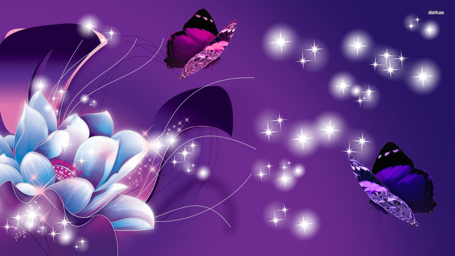 Neon Butterfly Desktop Background: Purple Butterfly Backgrounds (55+ Images