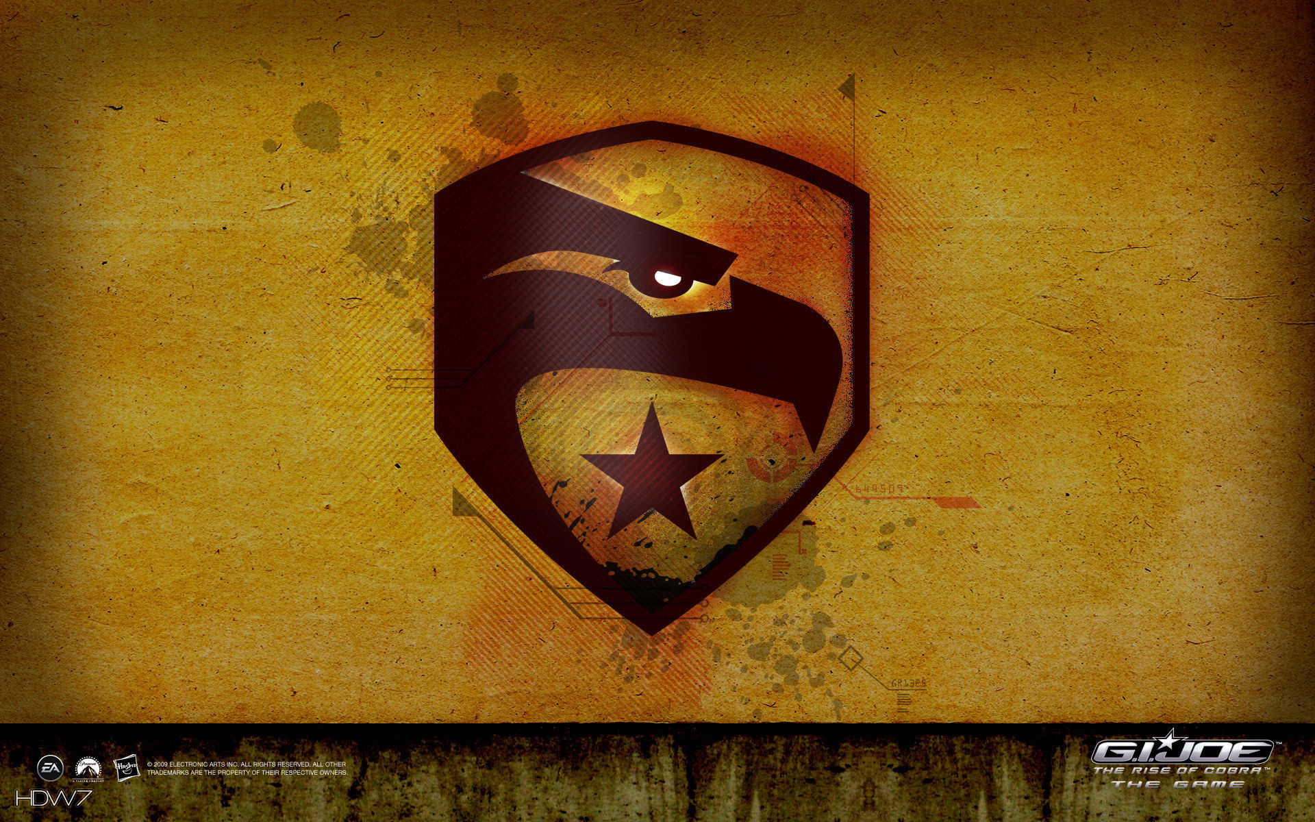 1920x1200 gi joe eagle logo widescreen wallpaper