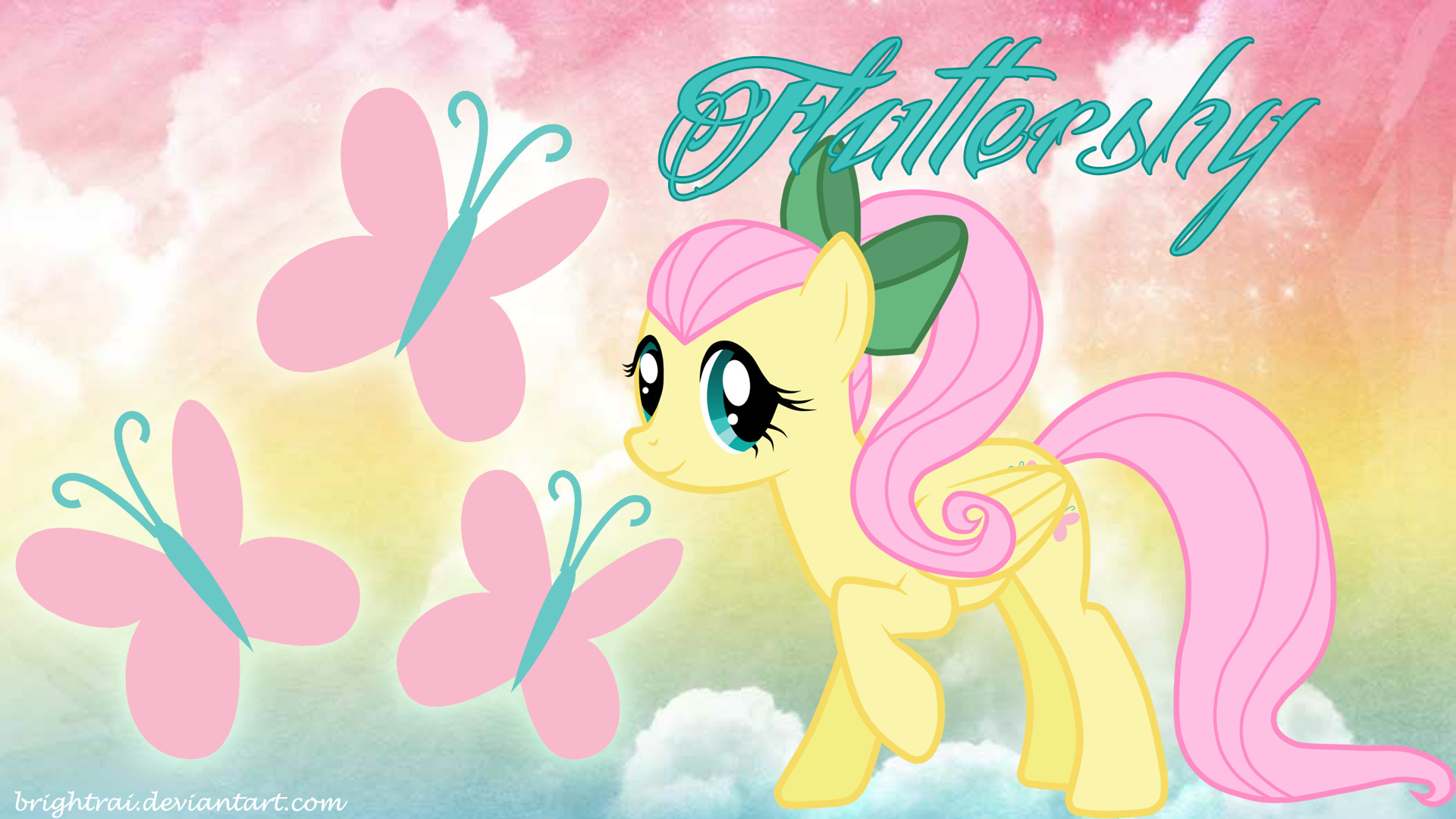 1920x1080 Cutie Mark Fluttershy My Little Pony Friendship Is Magic Butterflies  Pegasus Wallpaper