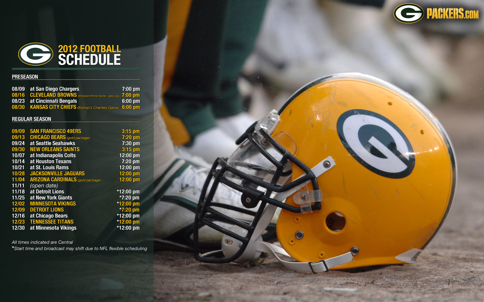 Packers 2018 Schedule Wallpaper 70 Images