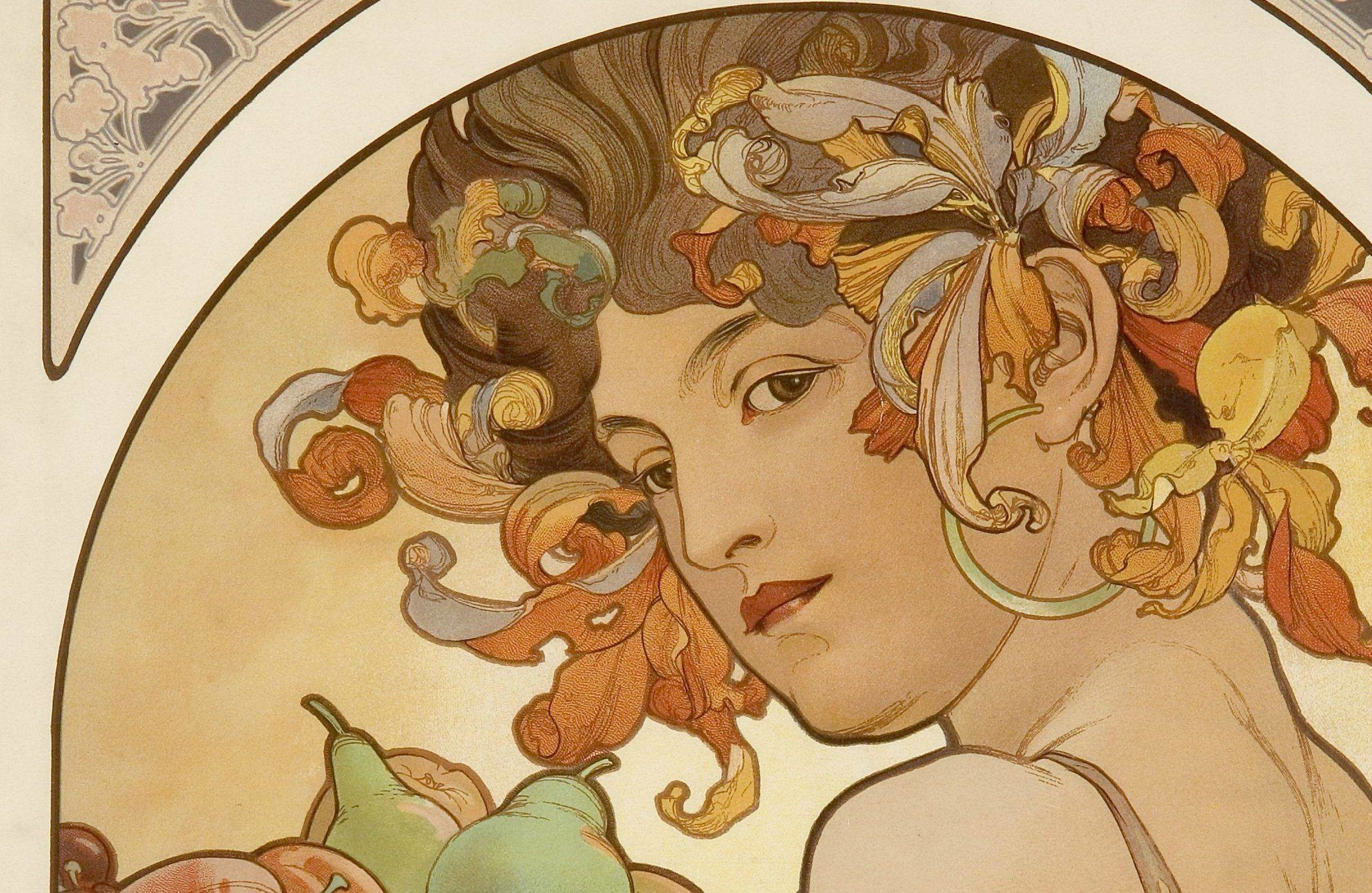 2132x1388 Alphonse Mucha Wallpaper Wide