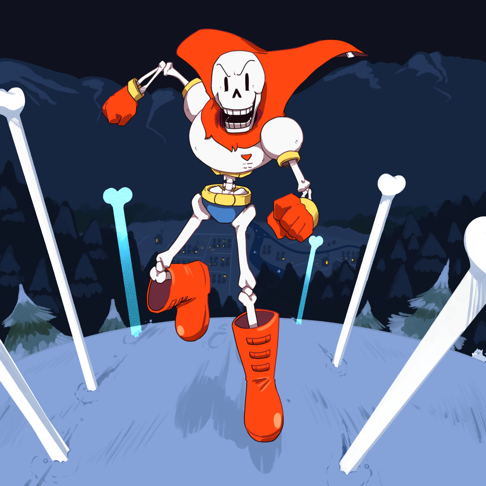 2000x2000 UNDERTALE-The Game images Papyrus HD wallpaper and background photos