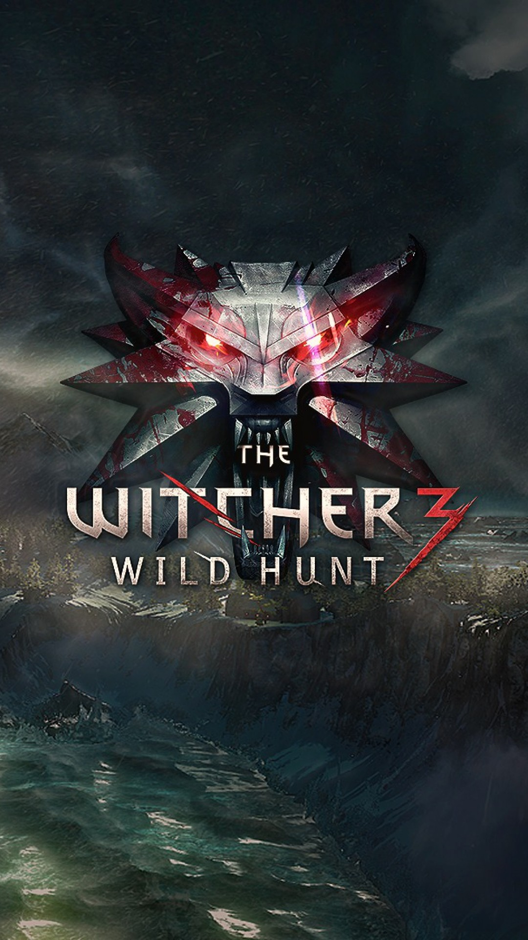 1080x1920 Preview wallpaper the witcher 3, wild hunt, logo