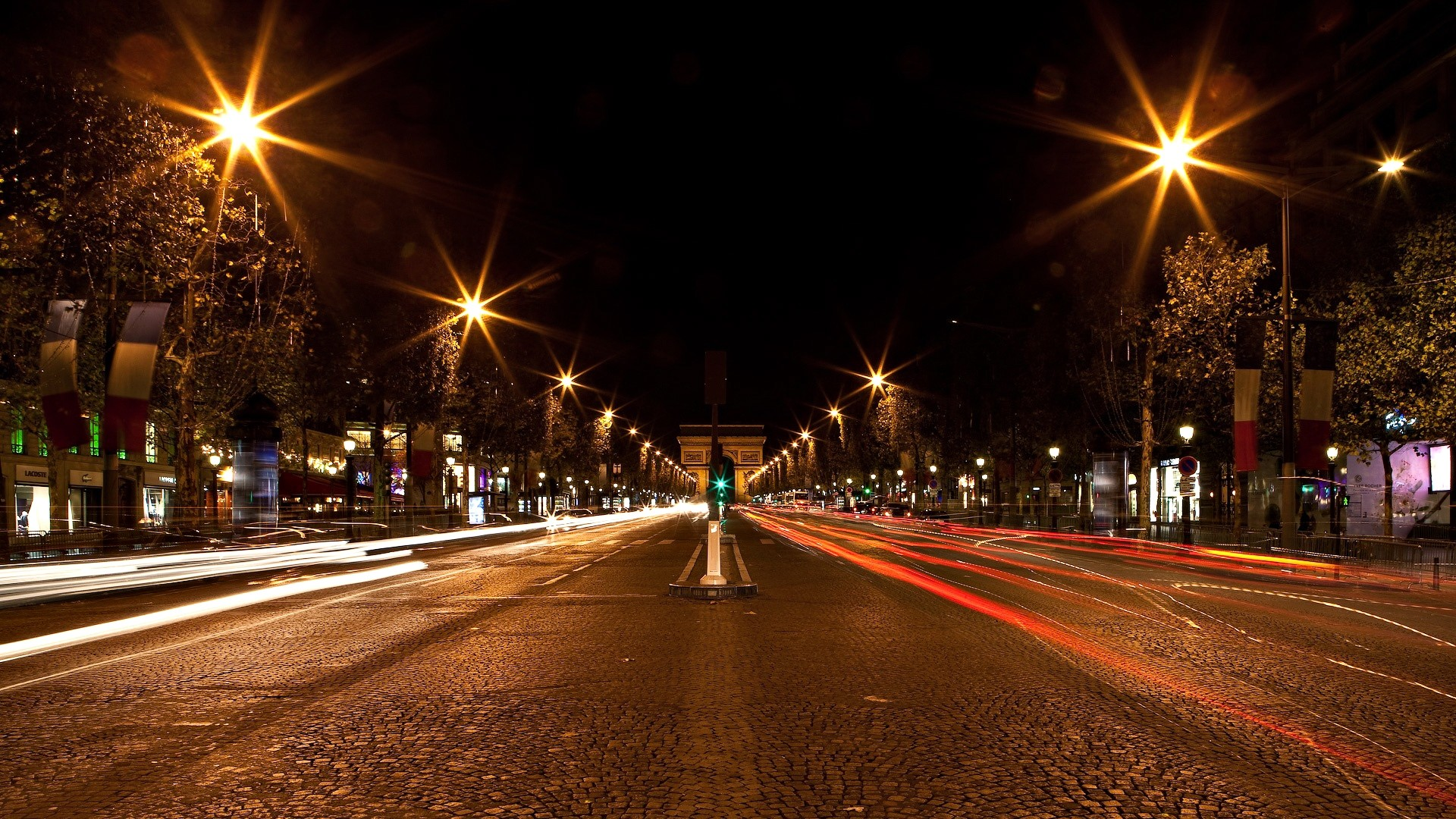 City Street Lights Day
