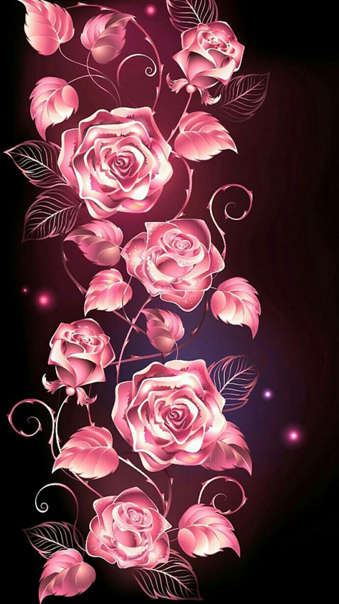 Sugar skull wallpaper for iphone 62 images - Pink rose wallpaper iphone ...