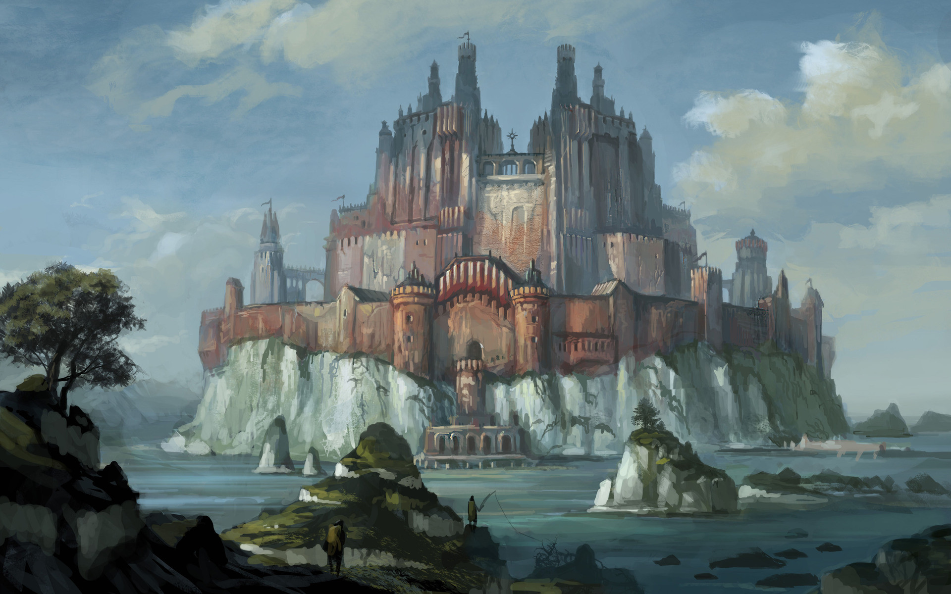 1920x1200 Fantasy Castles | Fantasy Castle Wallpaper/Background 1920 x 1200 - Id:  309639 .
