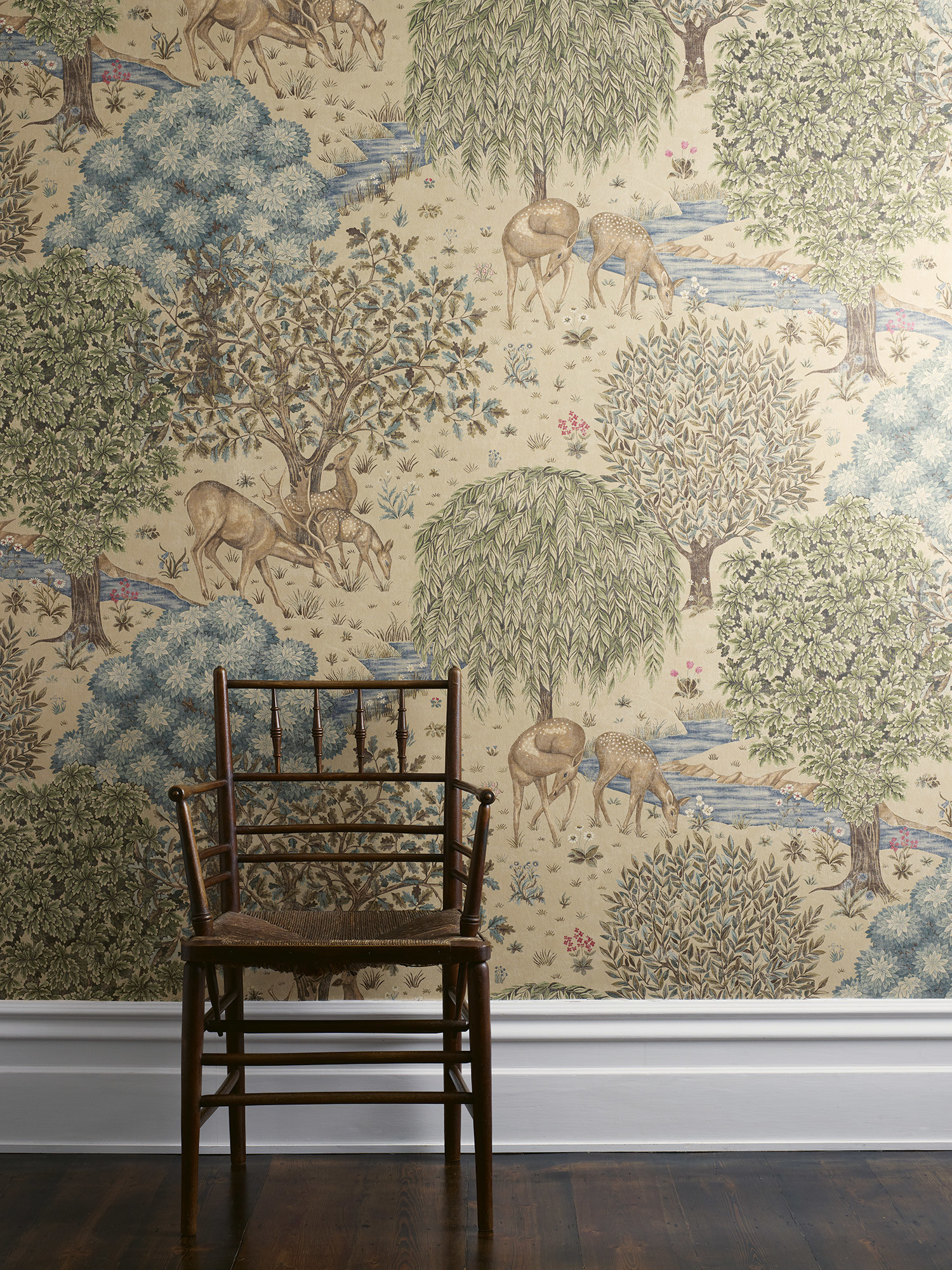1500x2000 ... Inspired by The Brook Tapestry by J. Dearle and the Holy Grail  Tapestries, 'The Brook' has been newly created by Morris & Co and printed  onto wallpaper.