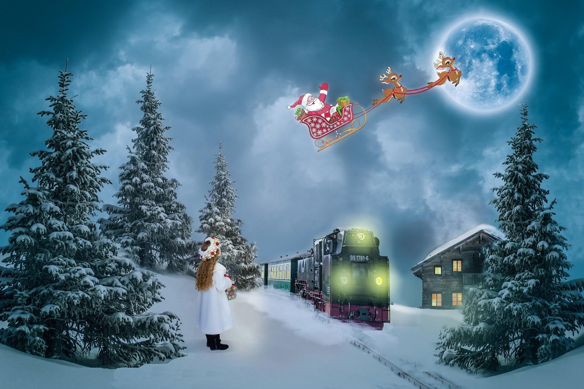 Santa In Flight Wallpaper 69 Images