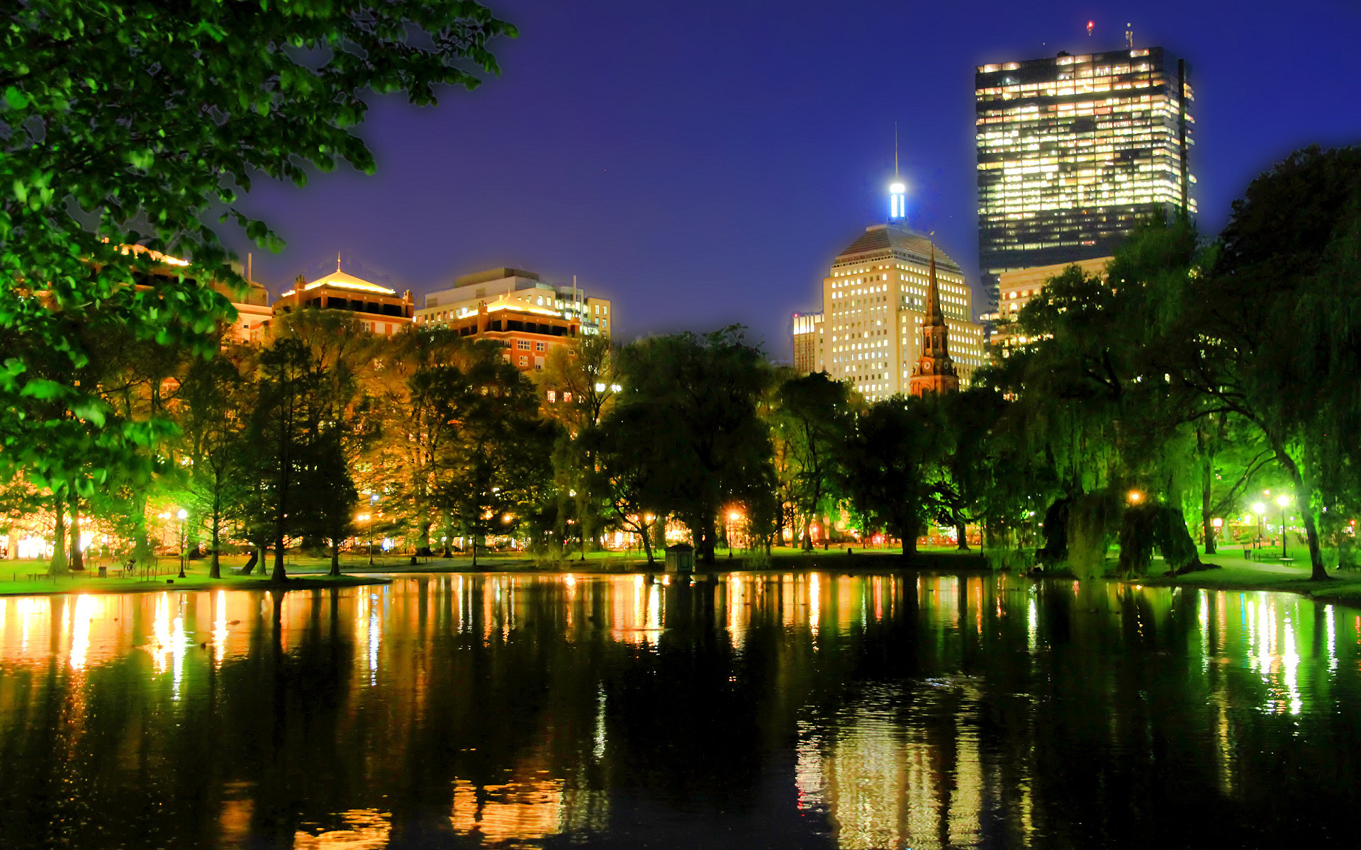 1920x1200 Boston City Night Skyline Hd Wallpaper Free Download | Daily Pics .