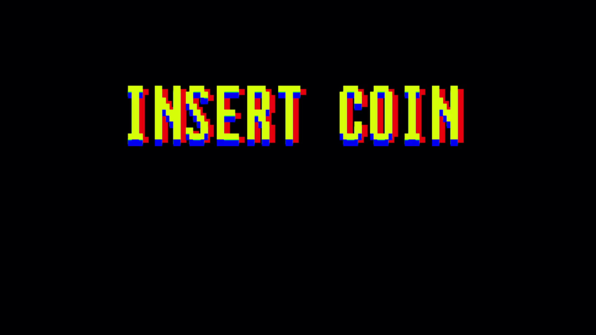 1920x1080 Insert Coin Classic Arcade Screen. Game Over in text titles. Classic  arcade, vintage, retro video game style. Also available in a version  processed through ...