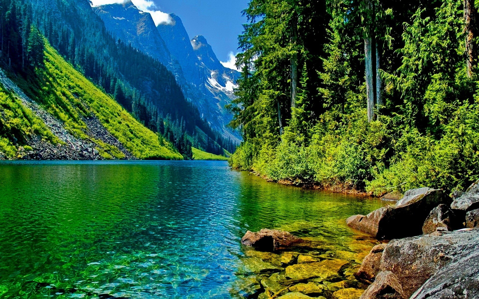 1920x1200 Beautiful landscape mountain river HD Desktop Wallpaper | HD Desktop .