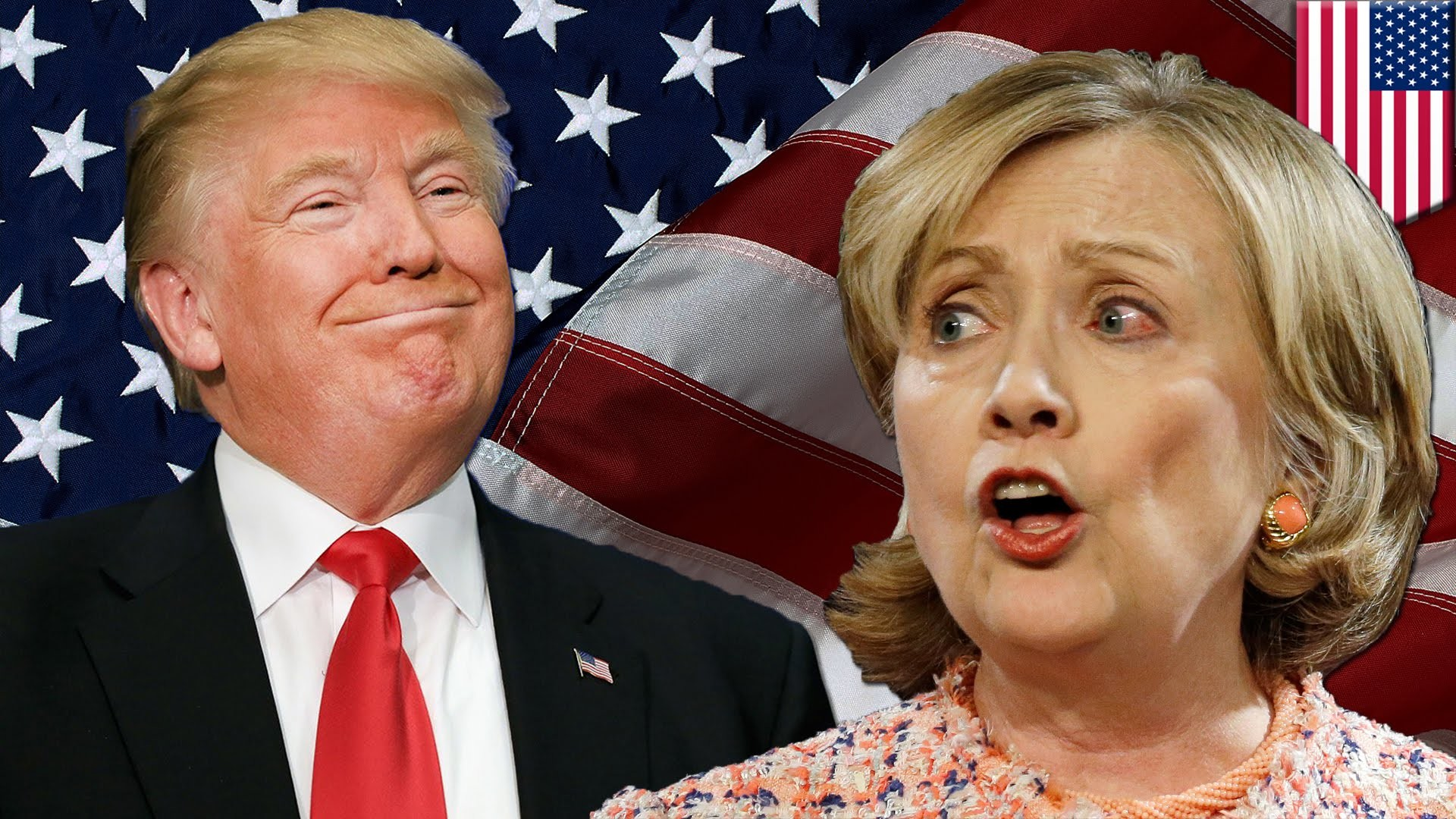 1920x1080 Trump vs Hillary: Trump and Clinton are neck-and-neck in the battleground  states - YouTube