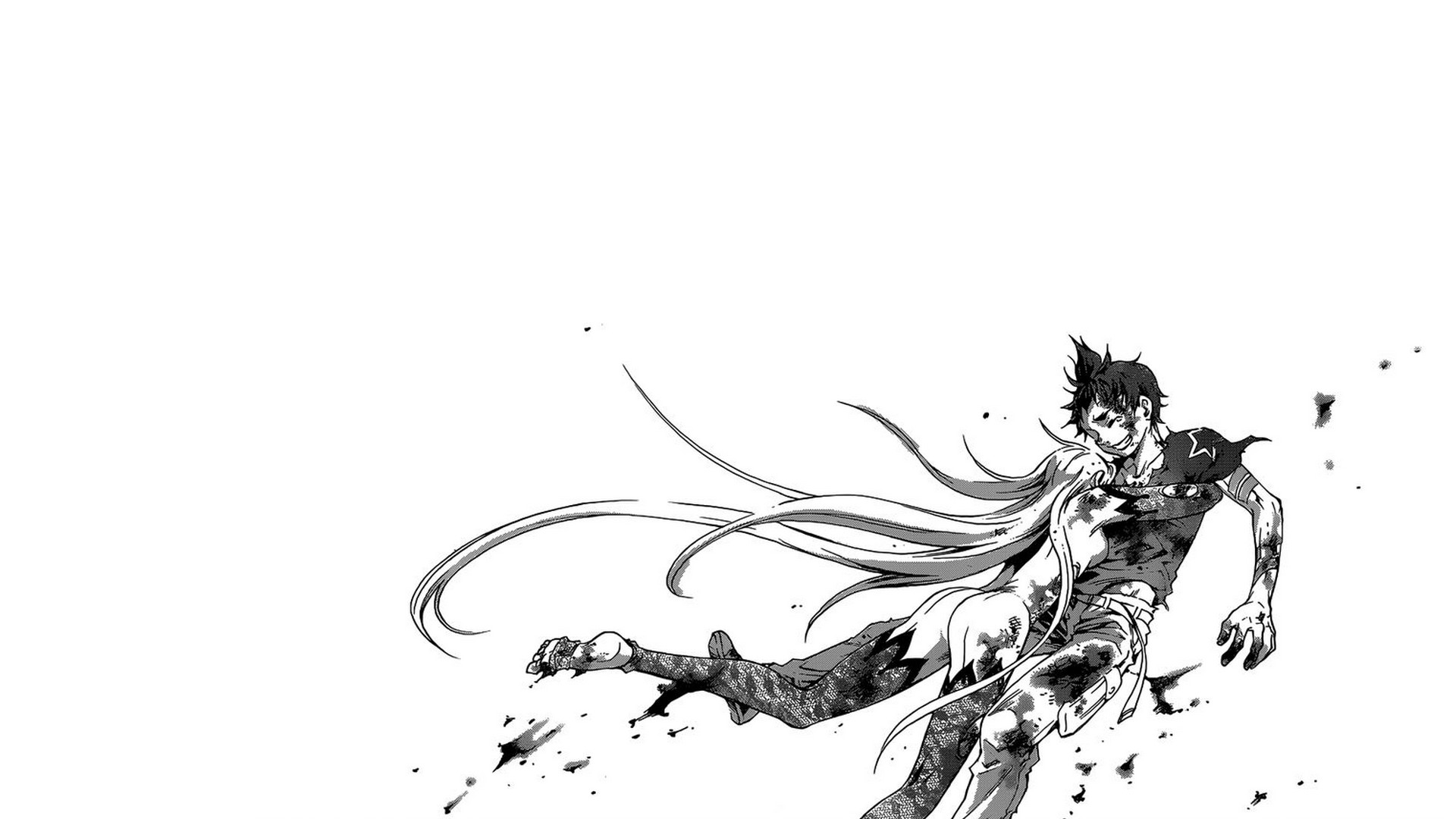 1920x1080 #manga, #Deadman Wonderland, #monochrome, wallpaper