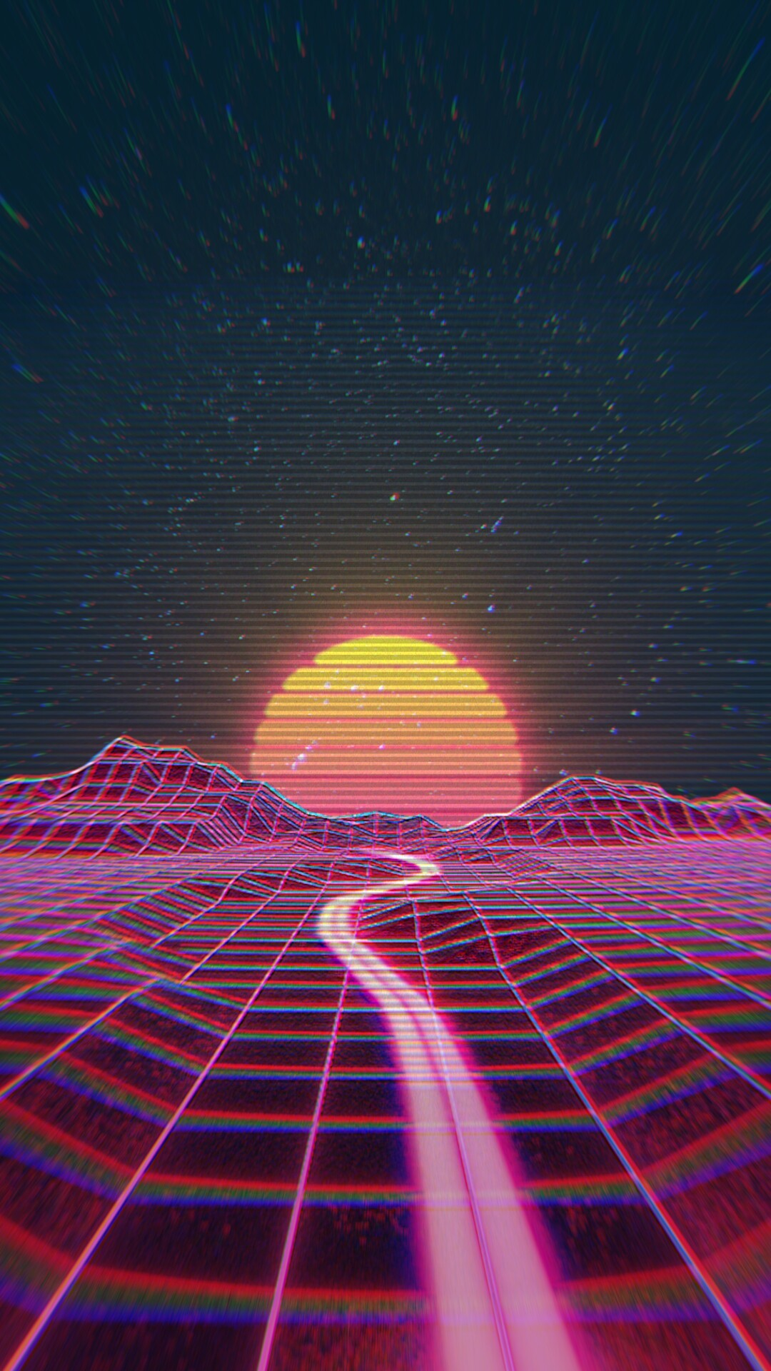1080x1920 Retro wave synth wave