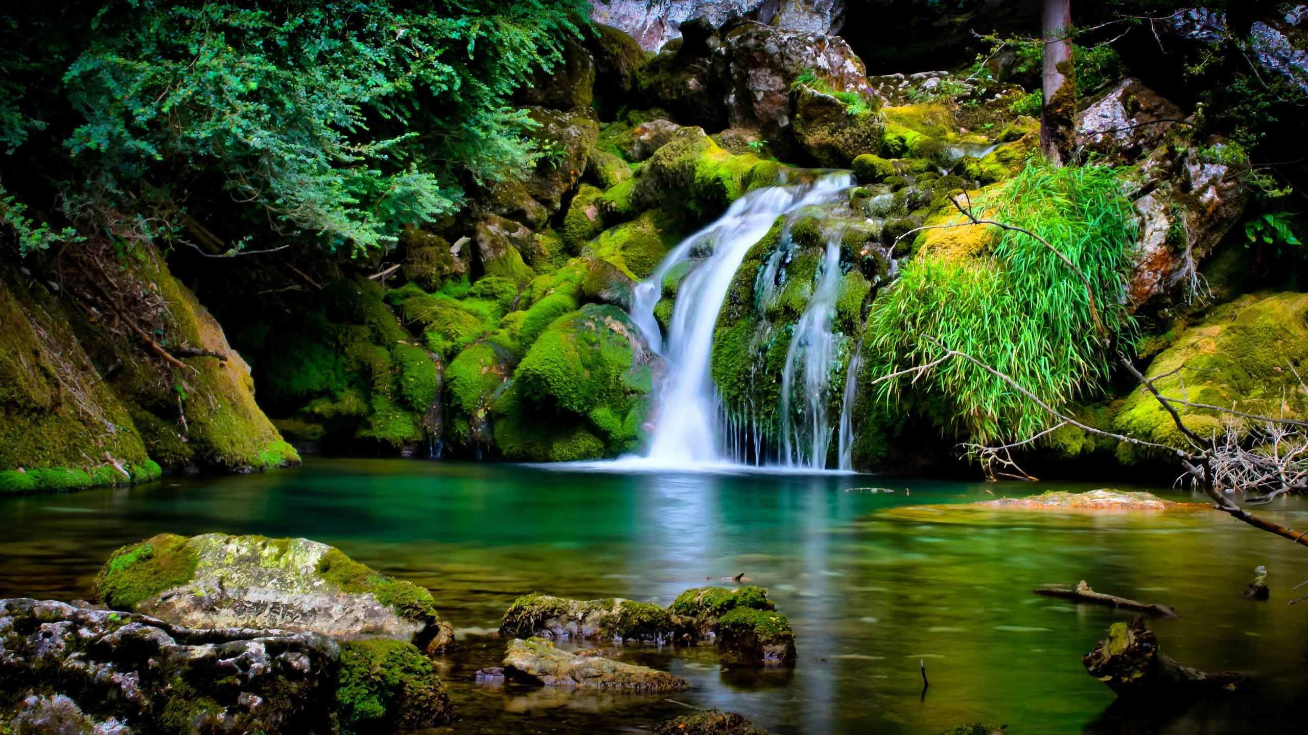 2560x1440 Waterfalls Waterfall Desktop Nature Wallpaper Backgrounds