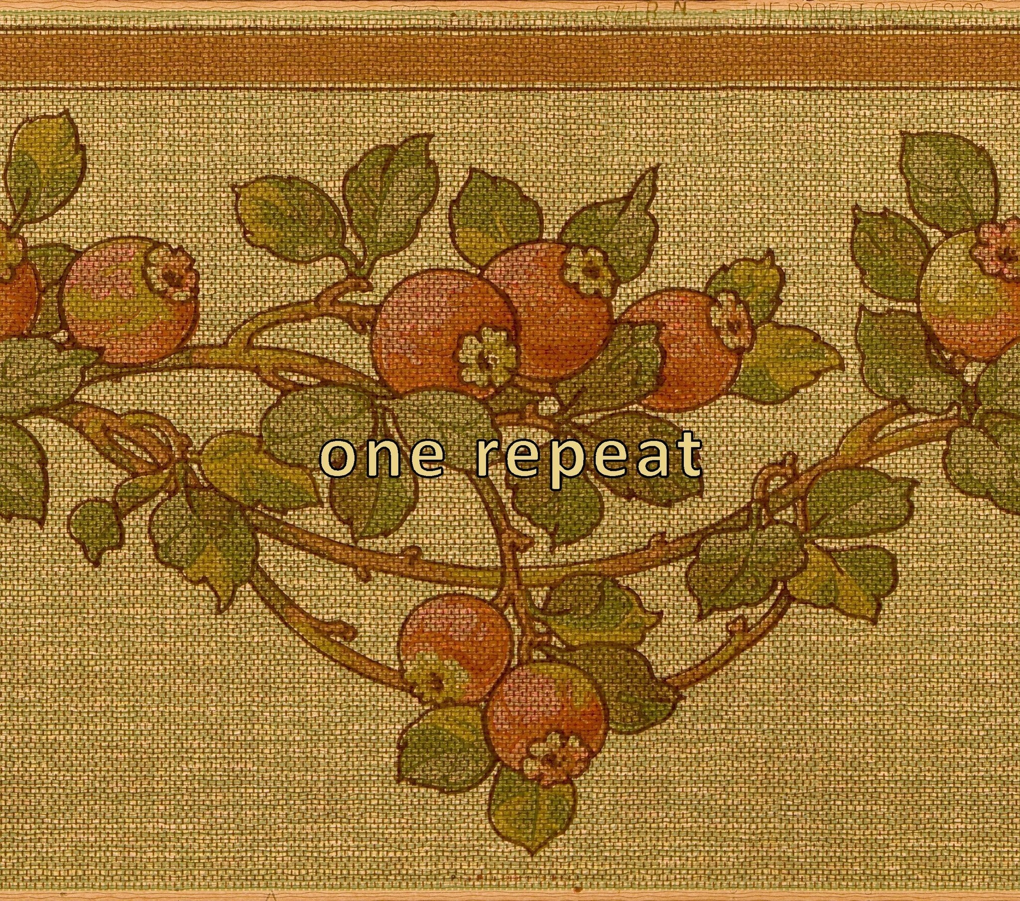 2048x1809 Hawthorn Berry Tapestry-Effect Frieze
