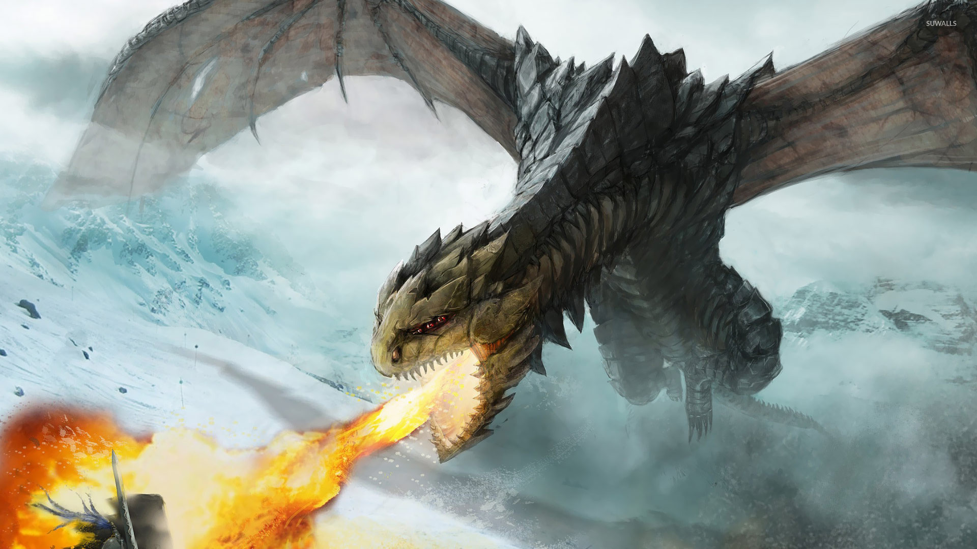 Fire dragon wallpaper 67 images - Dragon backgrounds 1920x1080 ...