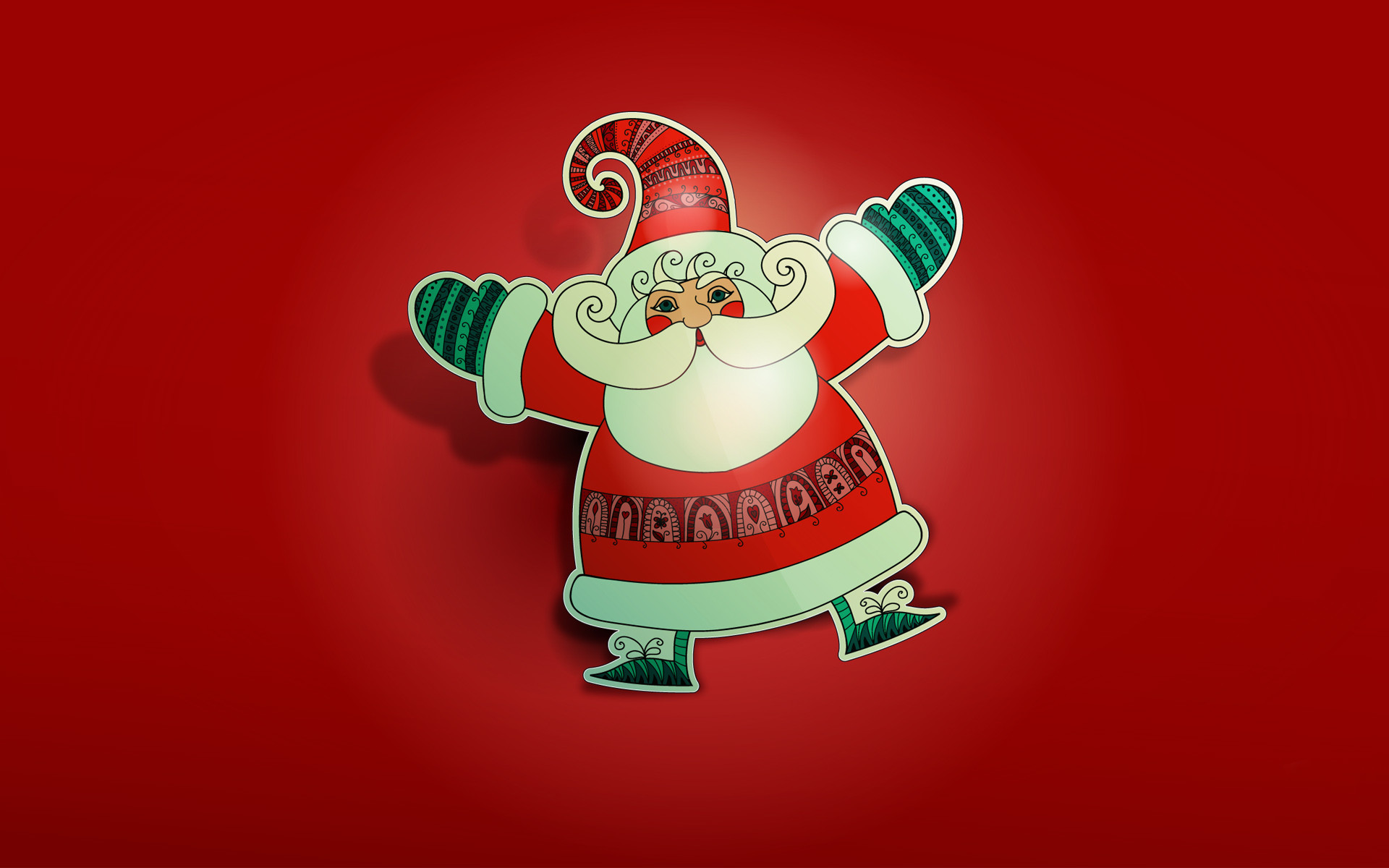 1920x1200 Santa HD Wallpaper Red