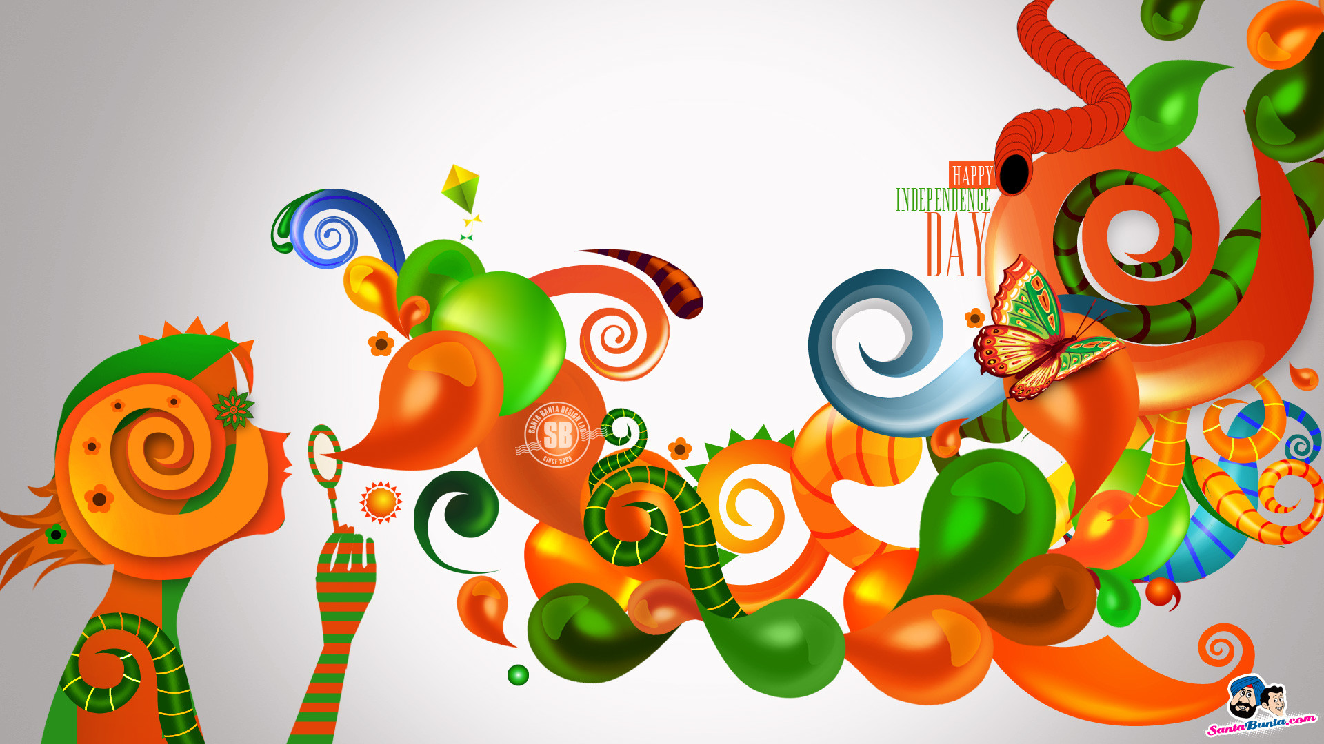 1920x1080 Indian Independence Day Wallpaper. Colorful Wallpaper
