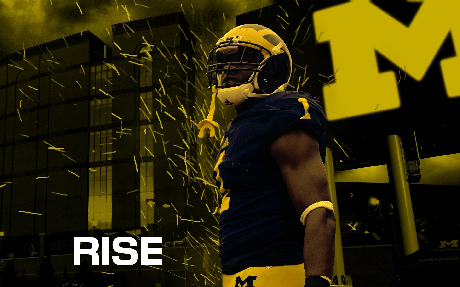 1920x1200 Free Michigan Wolverines Football Wallpaper