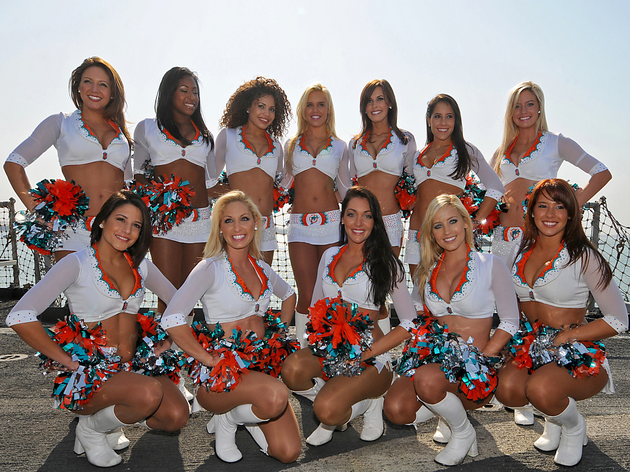 2048x1536 Free Miami Dolphins Cheerleaders Computer Desktop Wallpapers Pictures Images