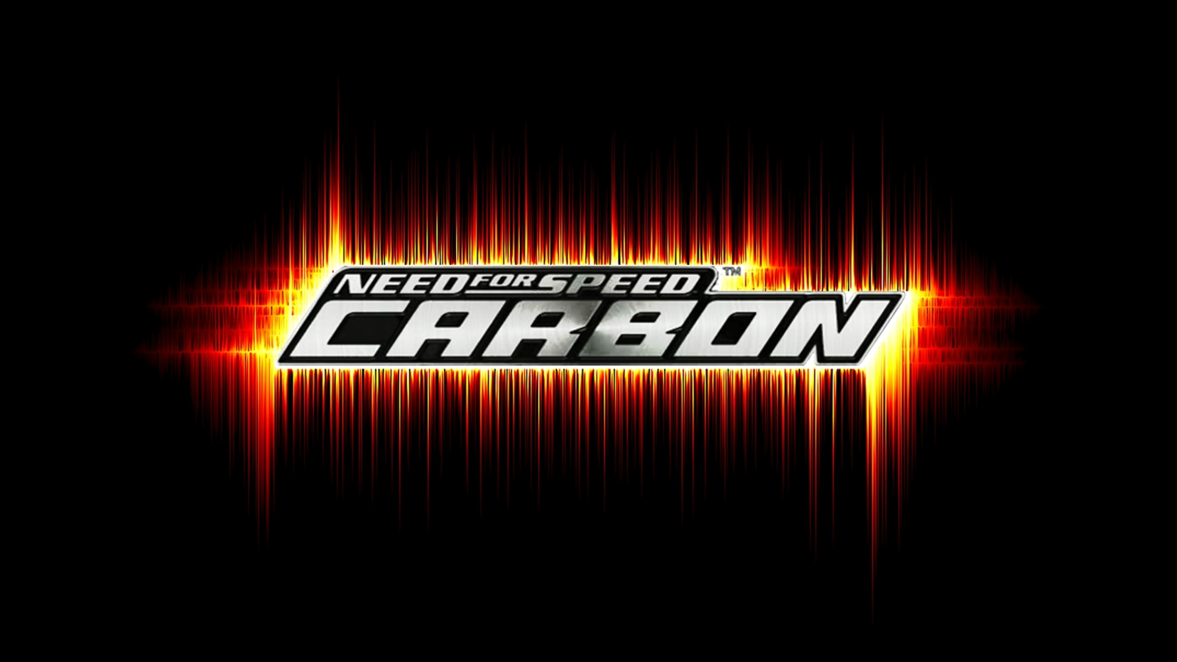 3840x2160  Wallpaper need for speed carbon, graphics, font, game, background