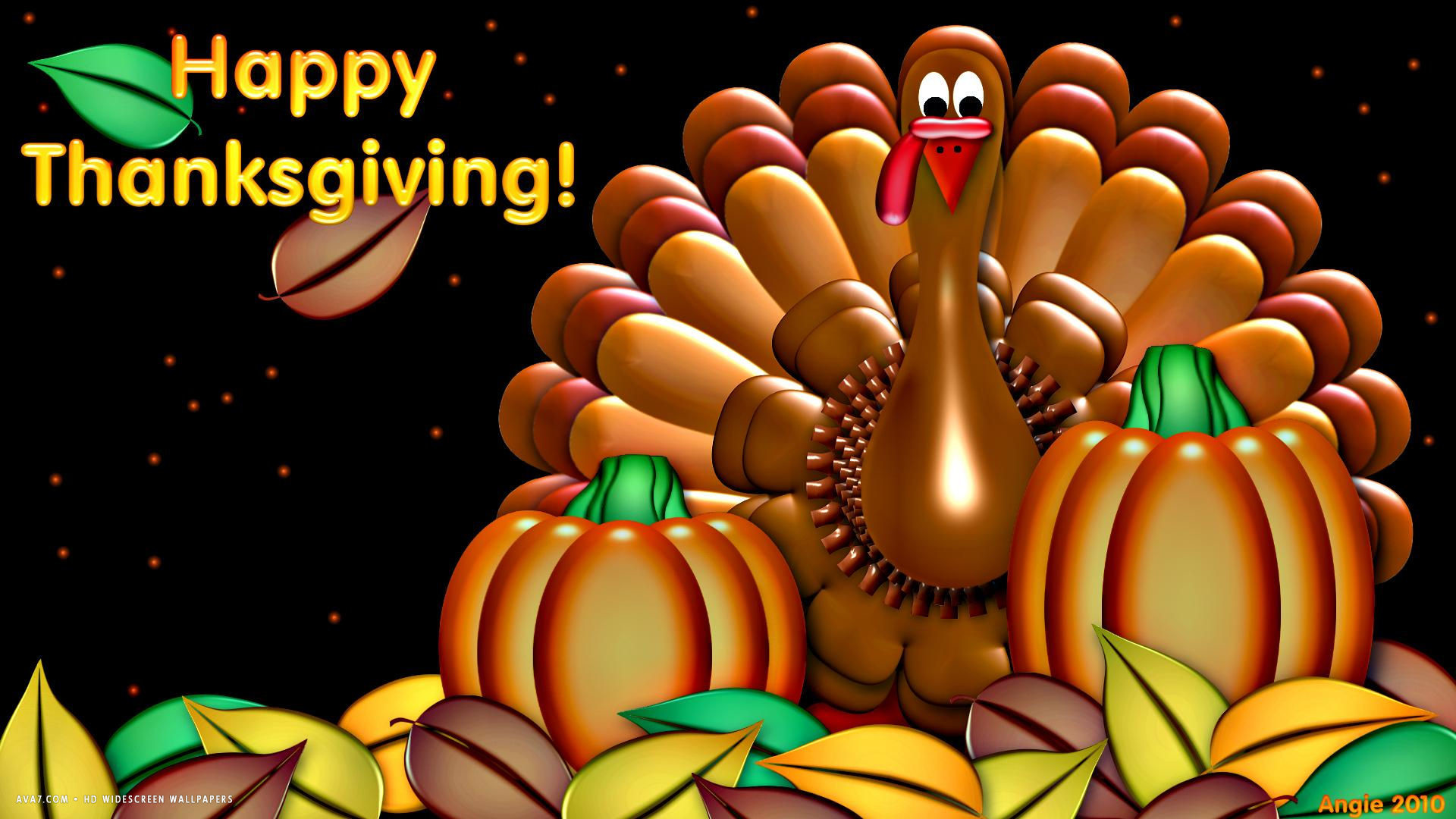 1920x1080 happy thanksgiving turkey pumpkin artistic holiday hd widescreen wallpaper