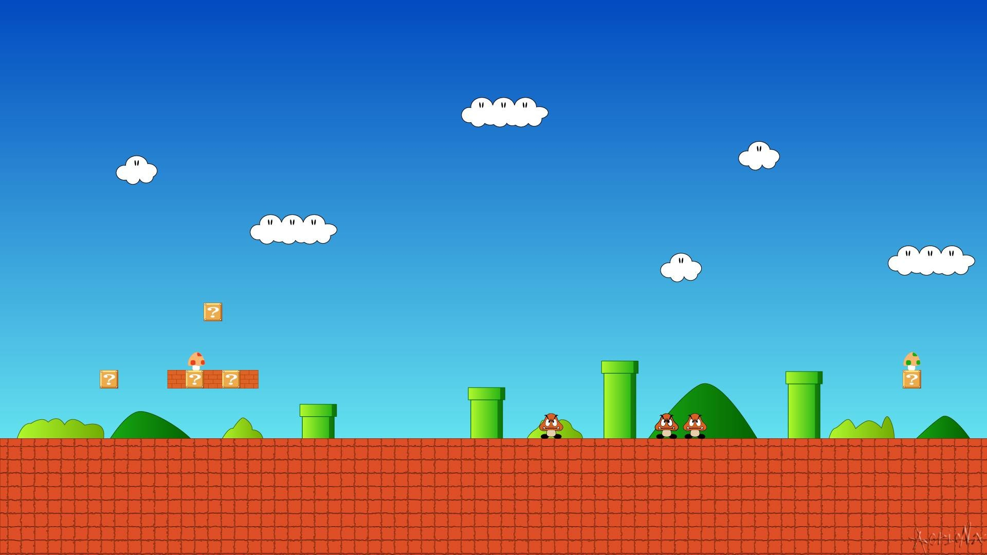 1920x1080 Images For > 8 Bit Mario Wallpaper