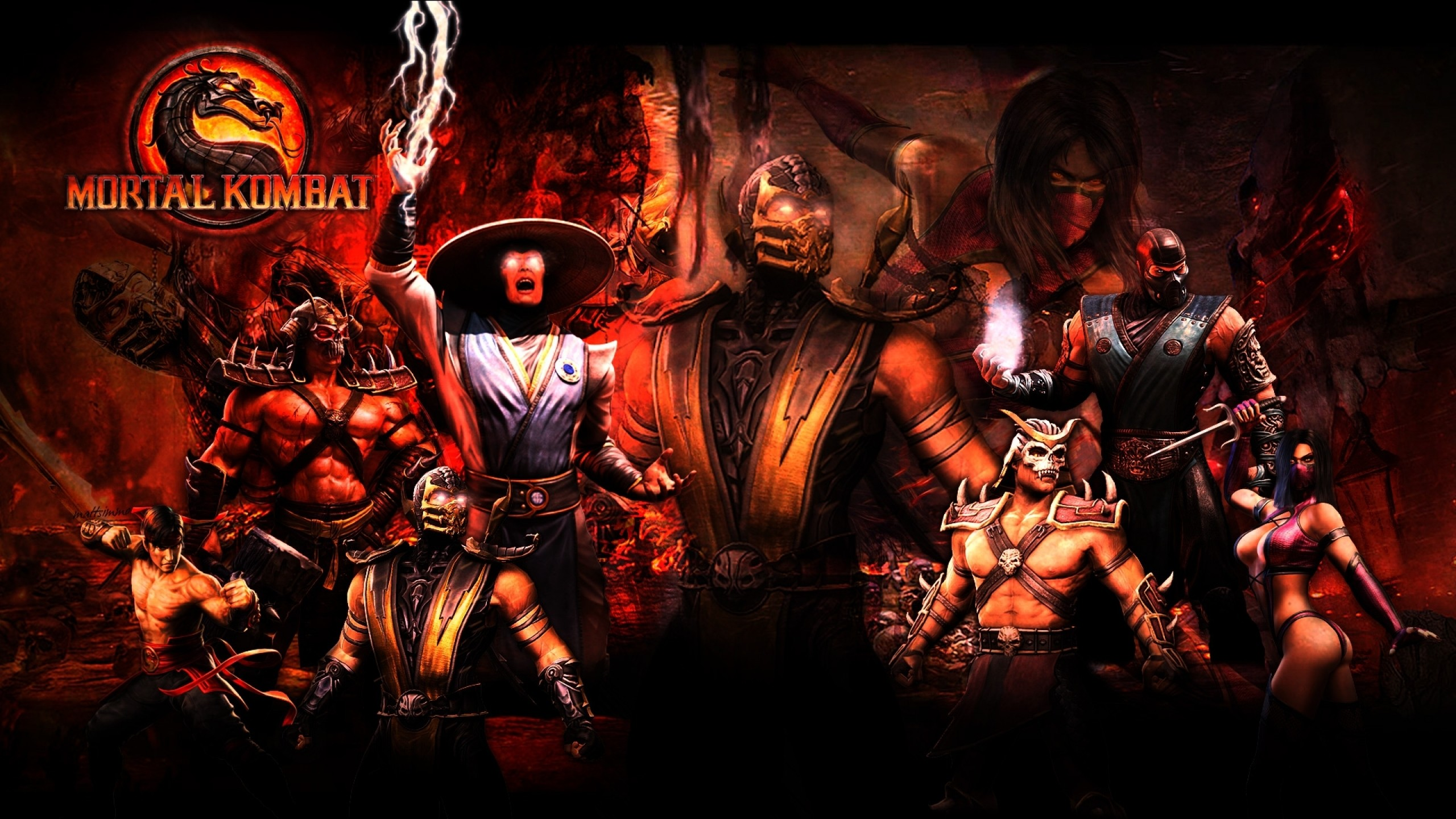 2560x1440 Dark Dragon Fire Logo Mortal Kombat · HD Wallpaper | Background Image  ID:282134