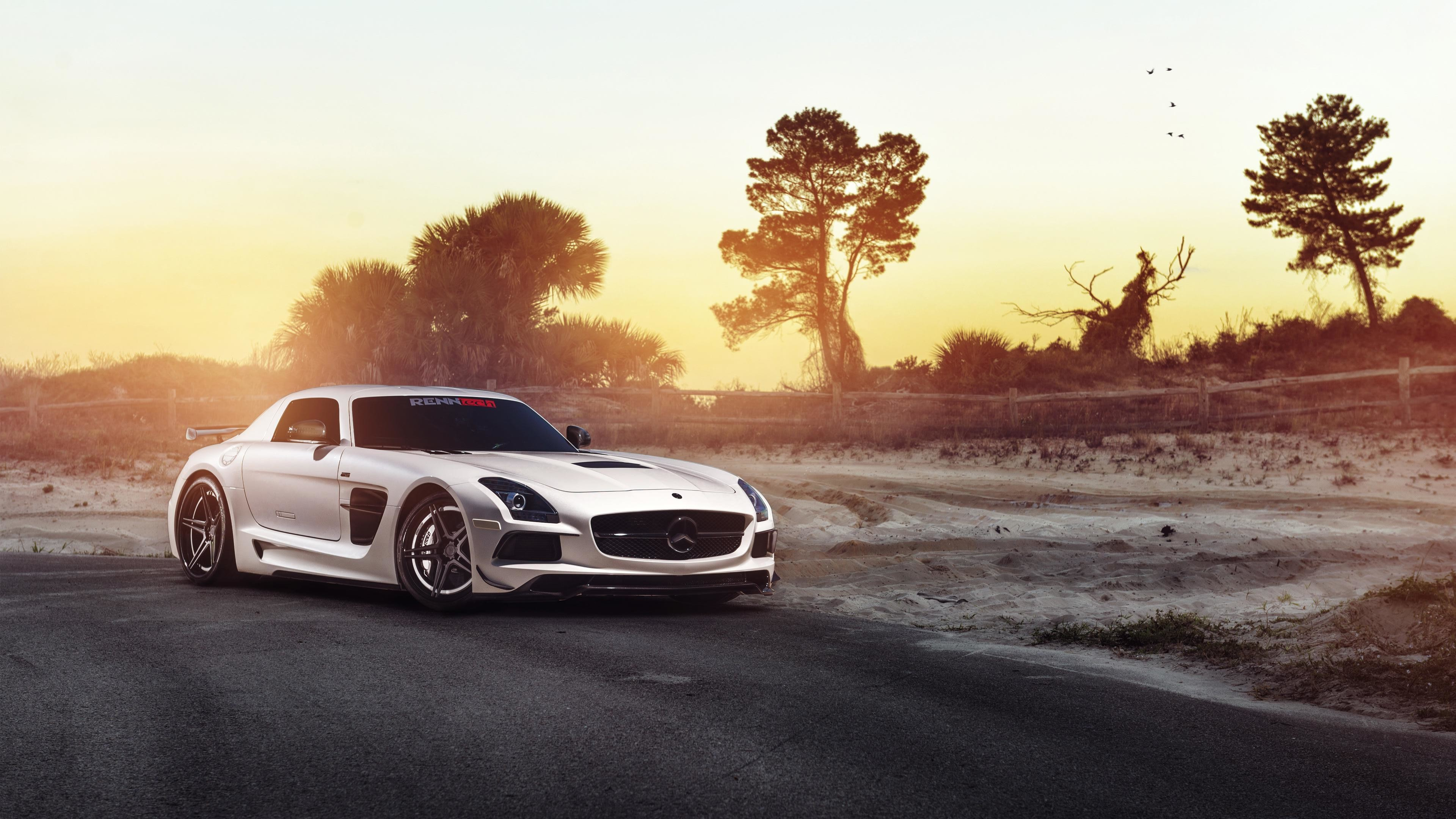 3840x2160 MERCEDES-BENZ SLS AMG BLACK SERIES SUPERCAR HD WALLPAPER