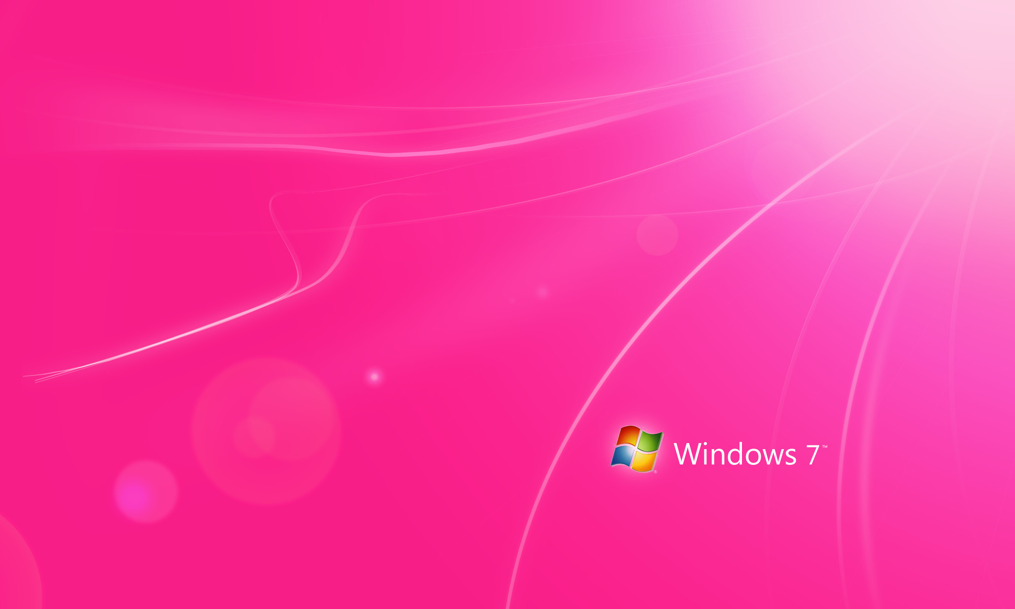 2000x1200 Pink with Logo – 7 Light Flow