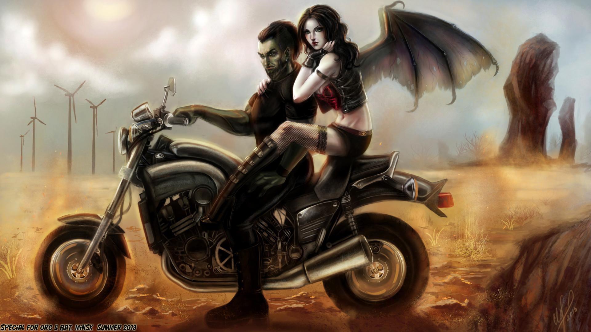 vampire on bike