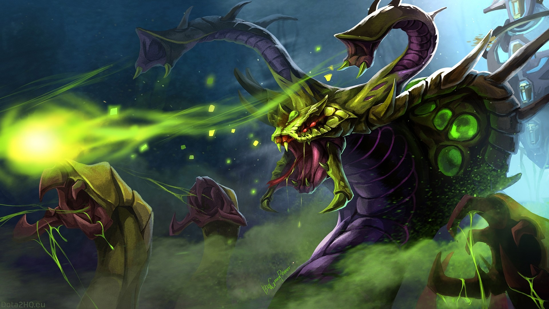 1920x1080 DOTA 2 Venomancer Desktop Wallpaper