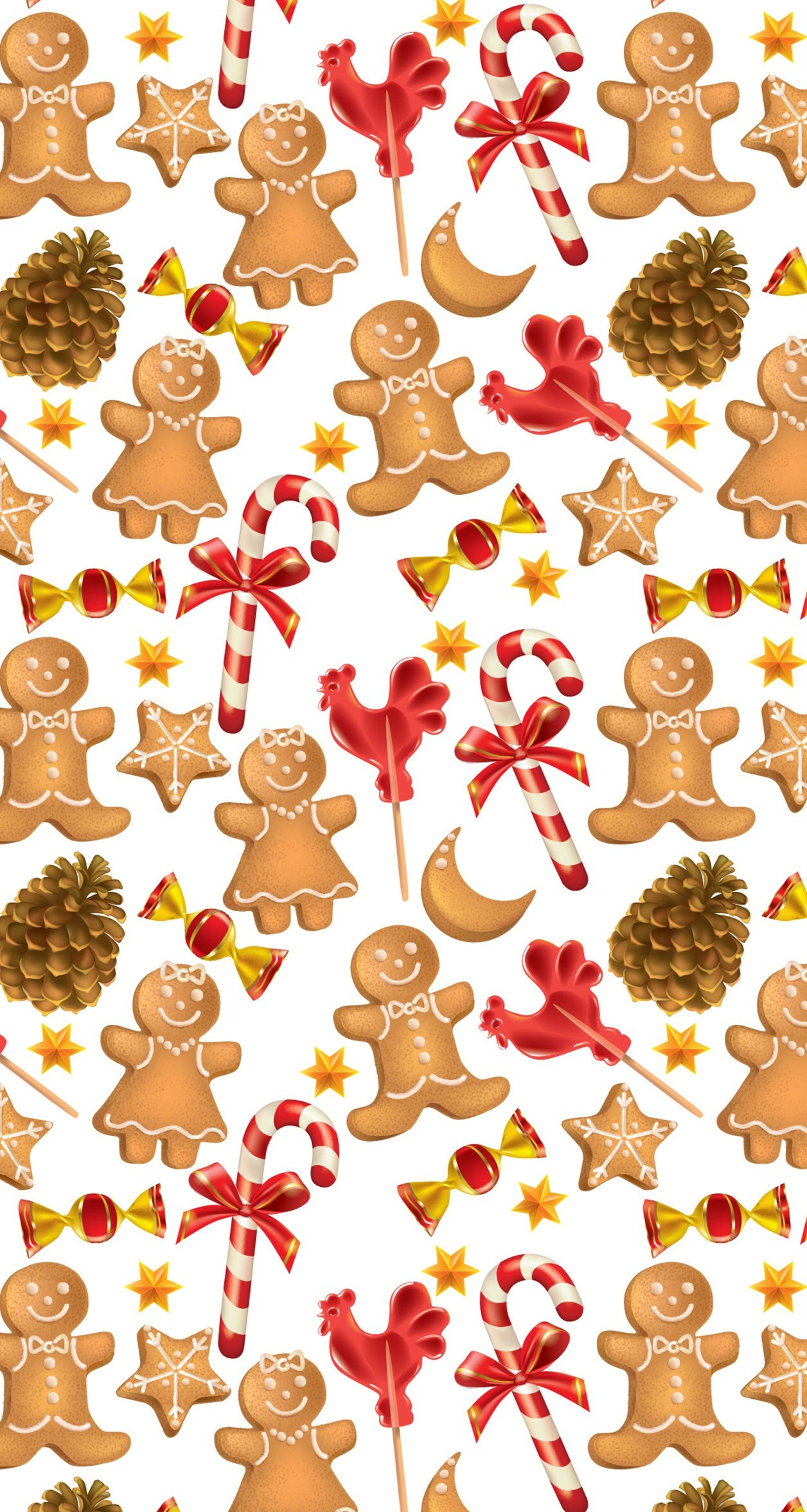 1256x2353 Gingerbread men christmas candy cane