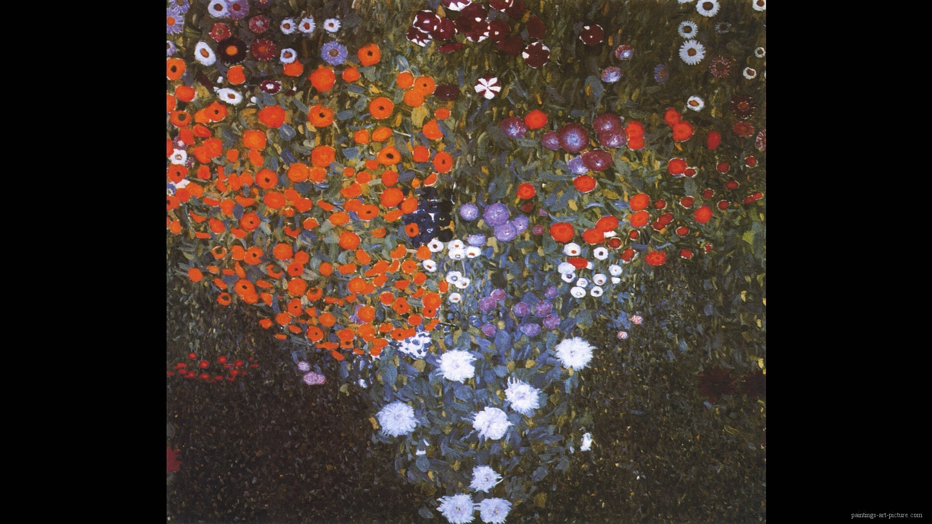 1920x1080 Gustav Klimt Paintings Wallpaper farm garden 1906 | Paintings Art ..