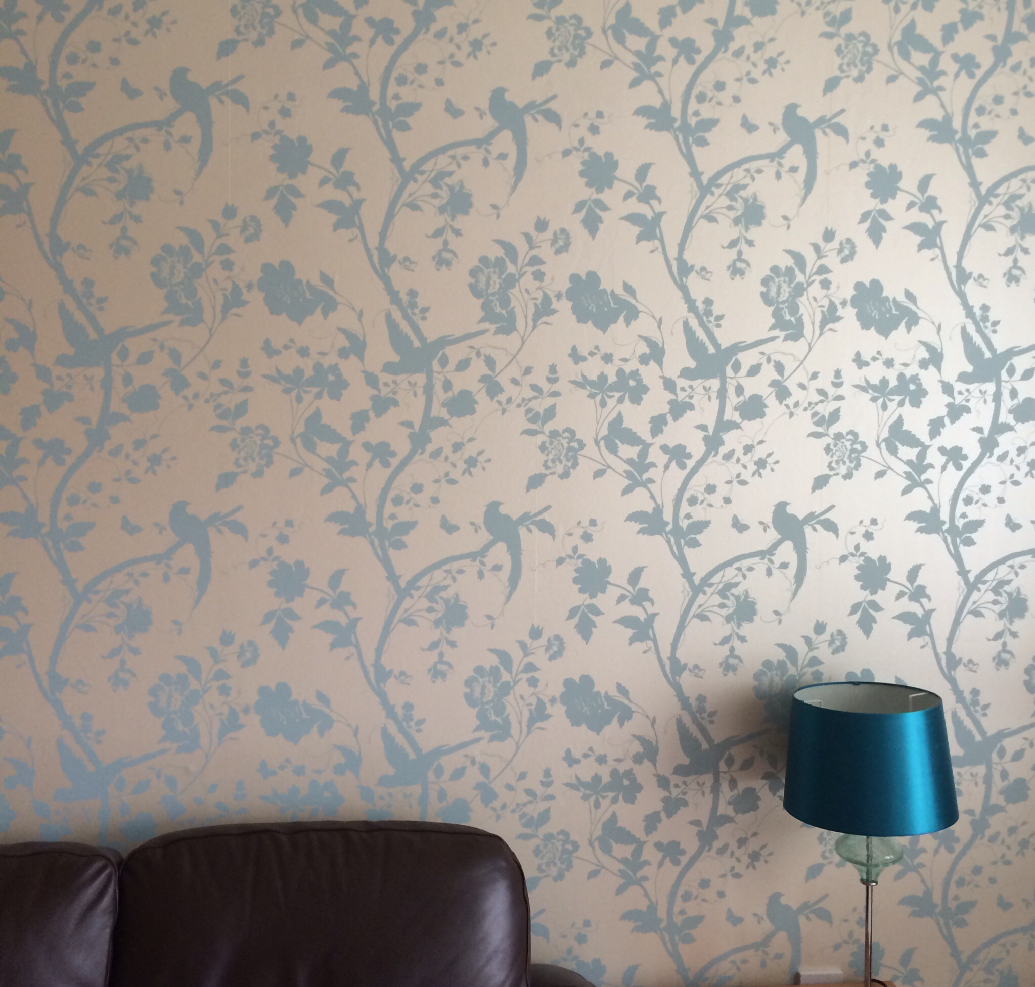 2047x1953 Laura Ashley Oriental Garden wallpaper in duck egg