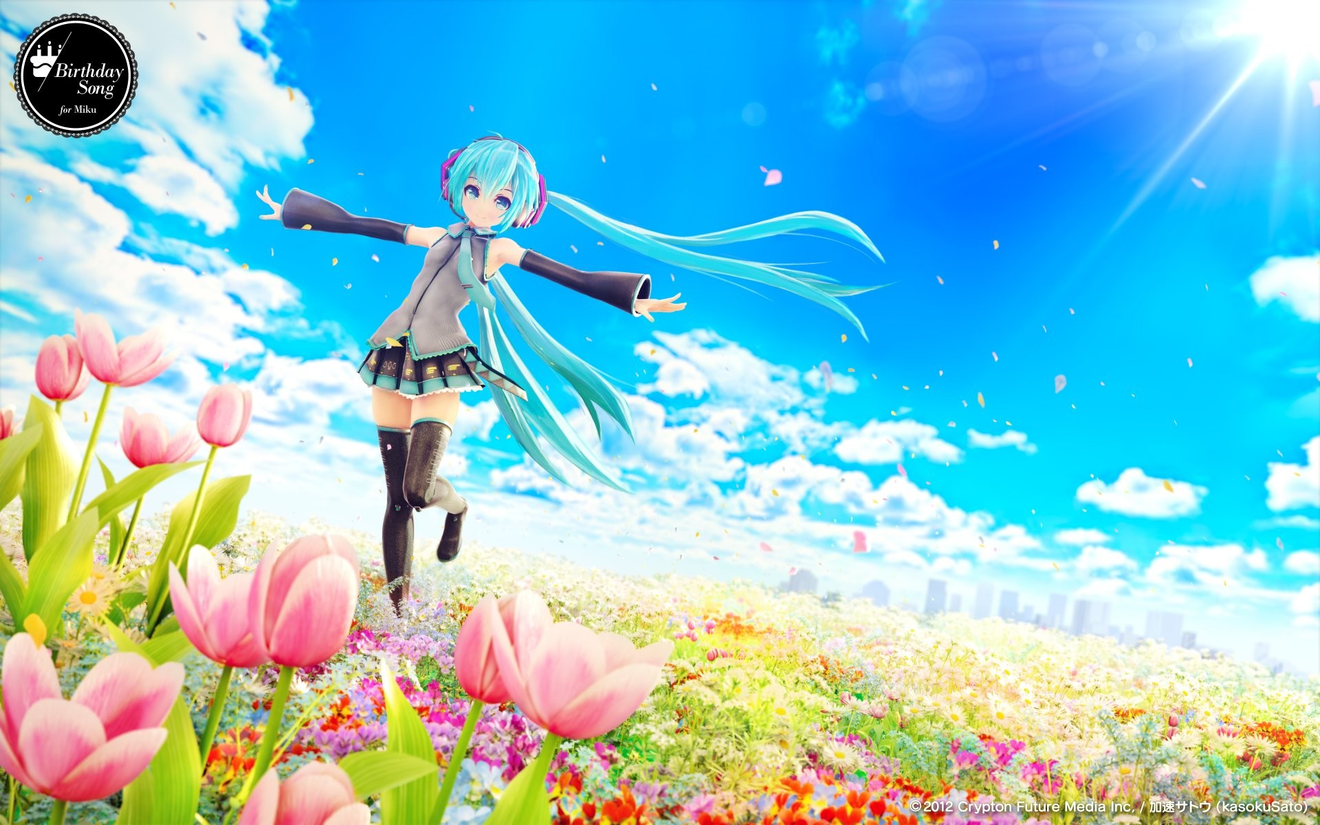 1920x1200 Hatsune Miku singing Vocaloid wallpaper Anime wallpapers