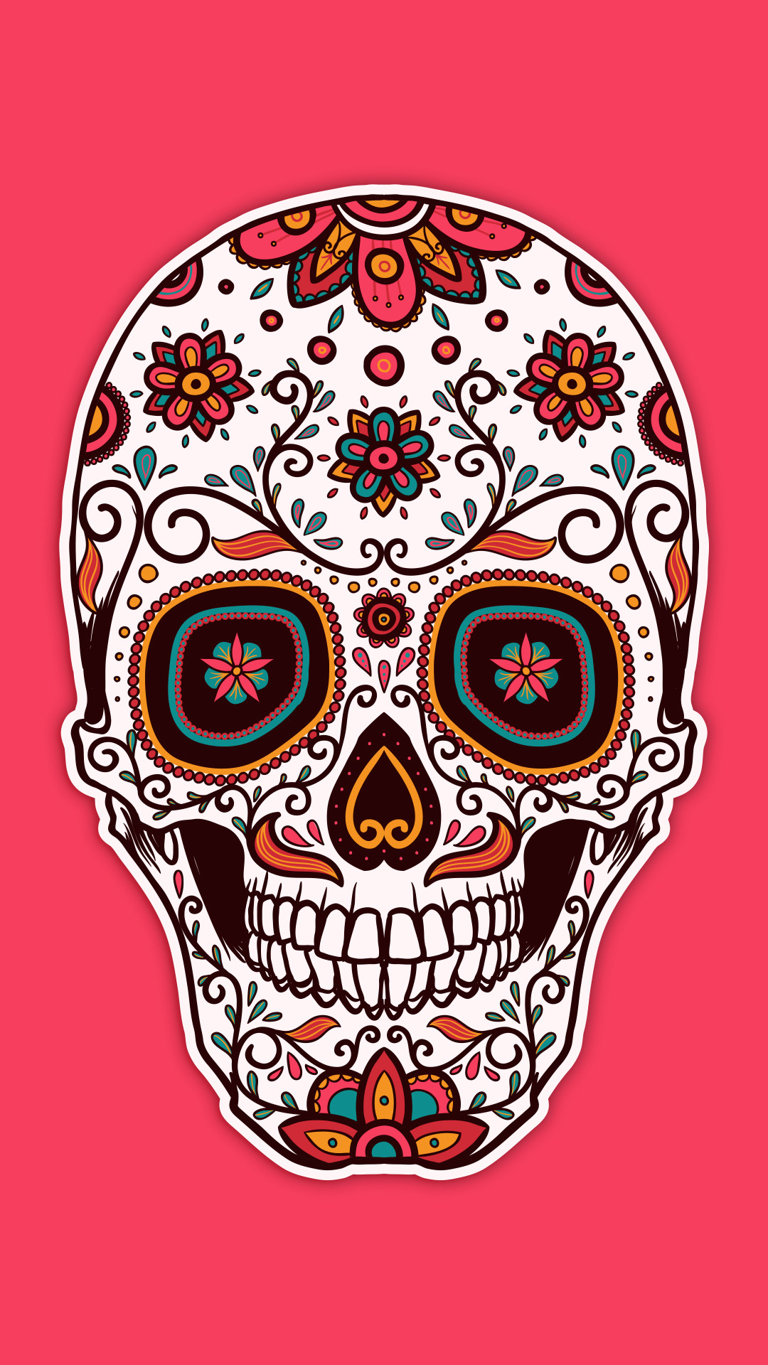1080x1920 Artistic Sugar Skull Wallpaper 639965