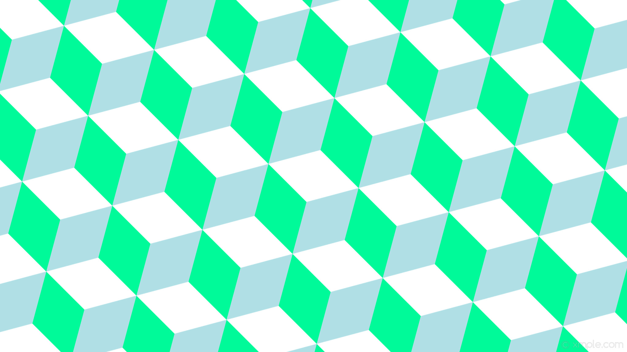 2048x1152 wallpaper blue green 3d cubes white medium spring green powder blue #ffffff  #00fa9a #