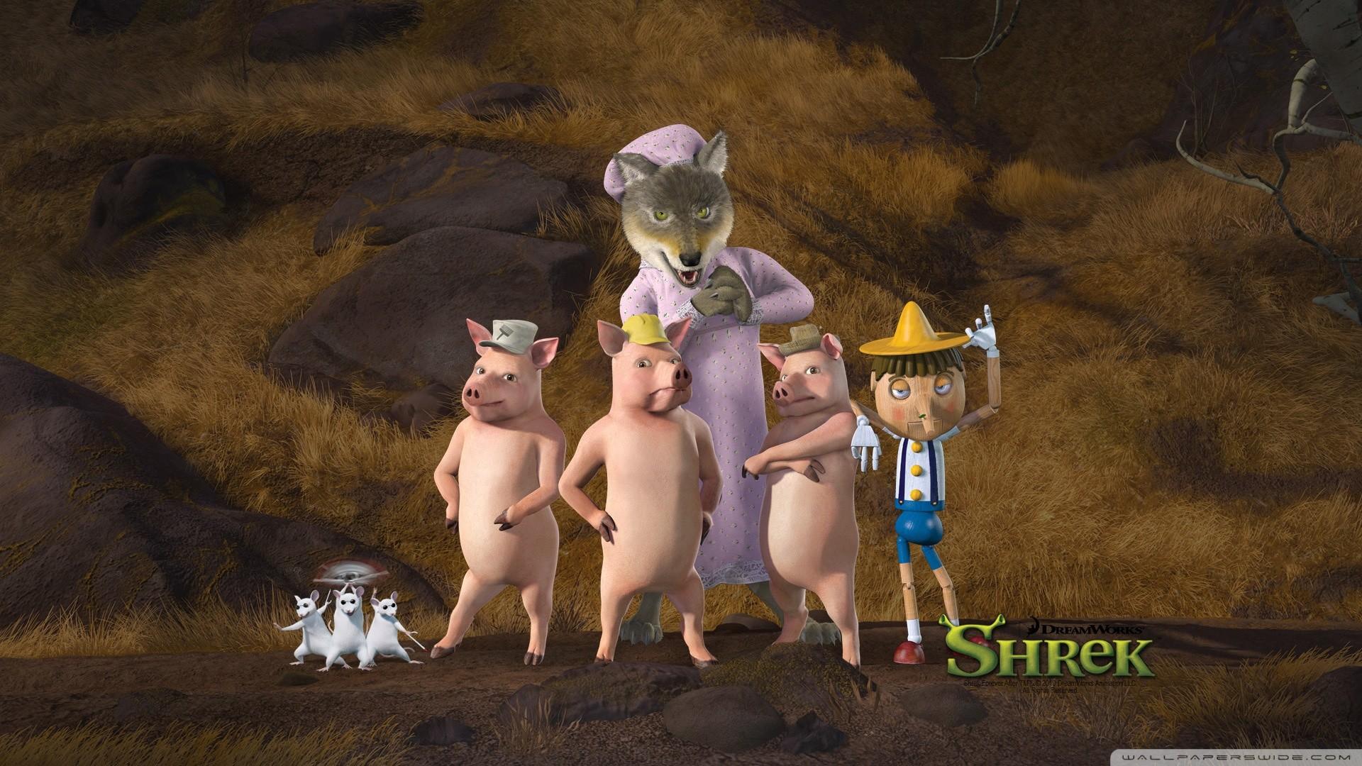 1920x1200 Shrek And Donkey HD Desktop Wallpaper Widescreen High