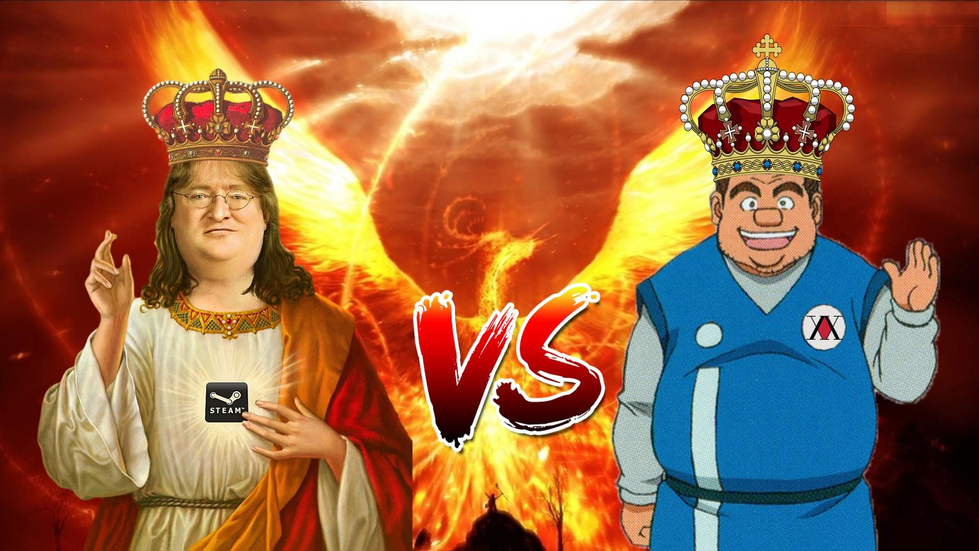 1920x1080 Who would win? Our Lord Tonpa vs the False Prophet Gaben.